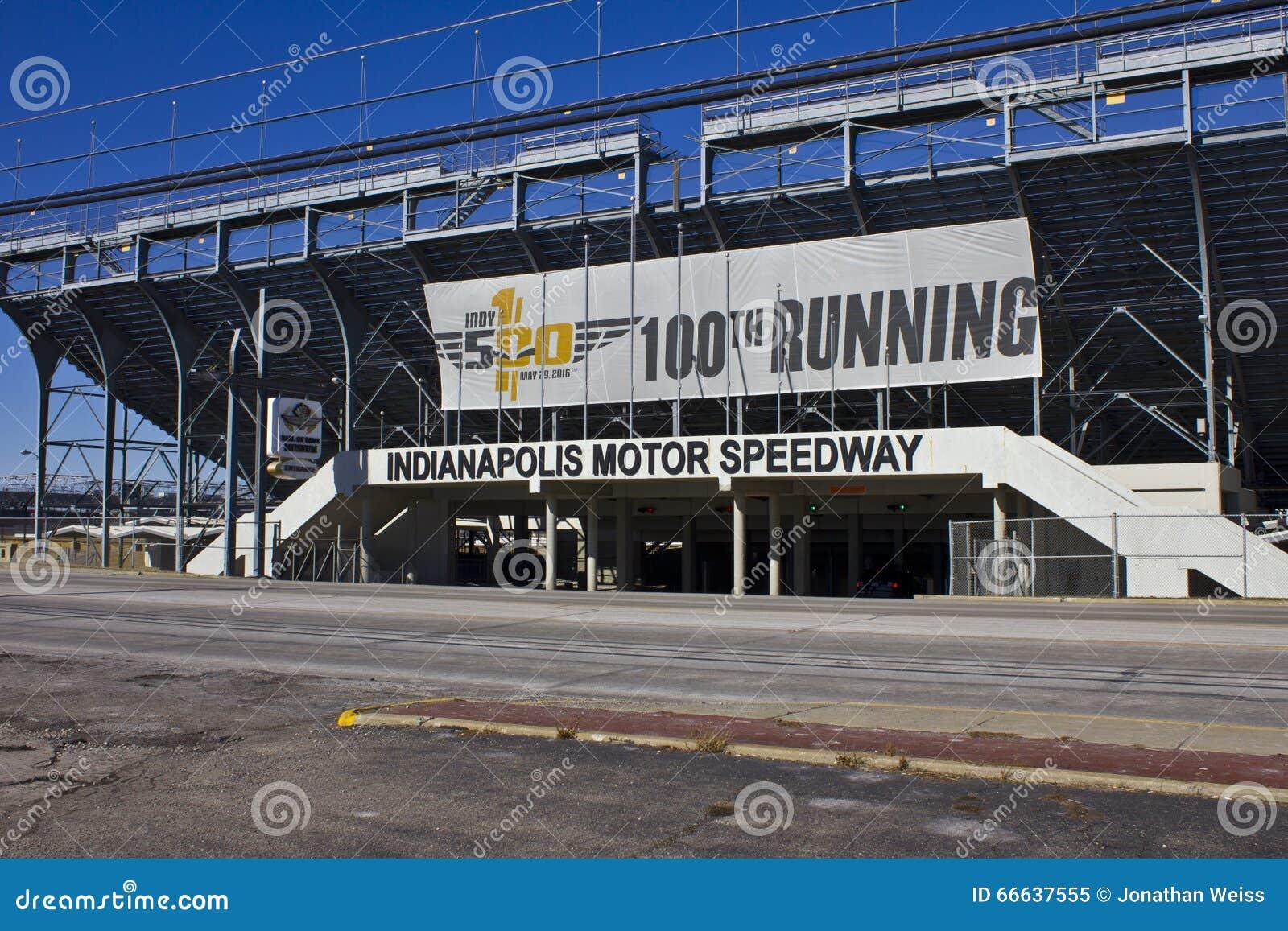 Индианаполис - около февраль 2016: Скоростная дорога мотора II Индианаполиса