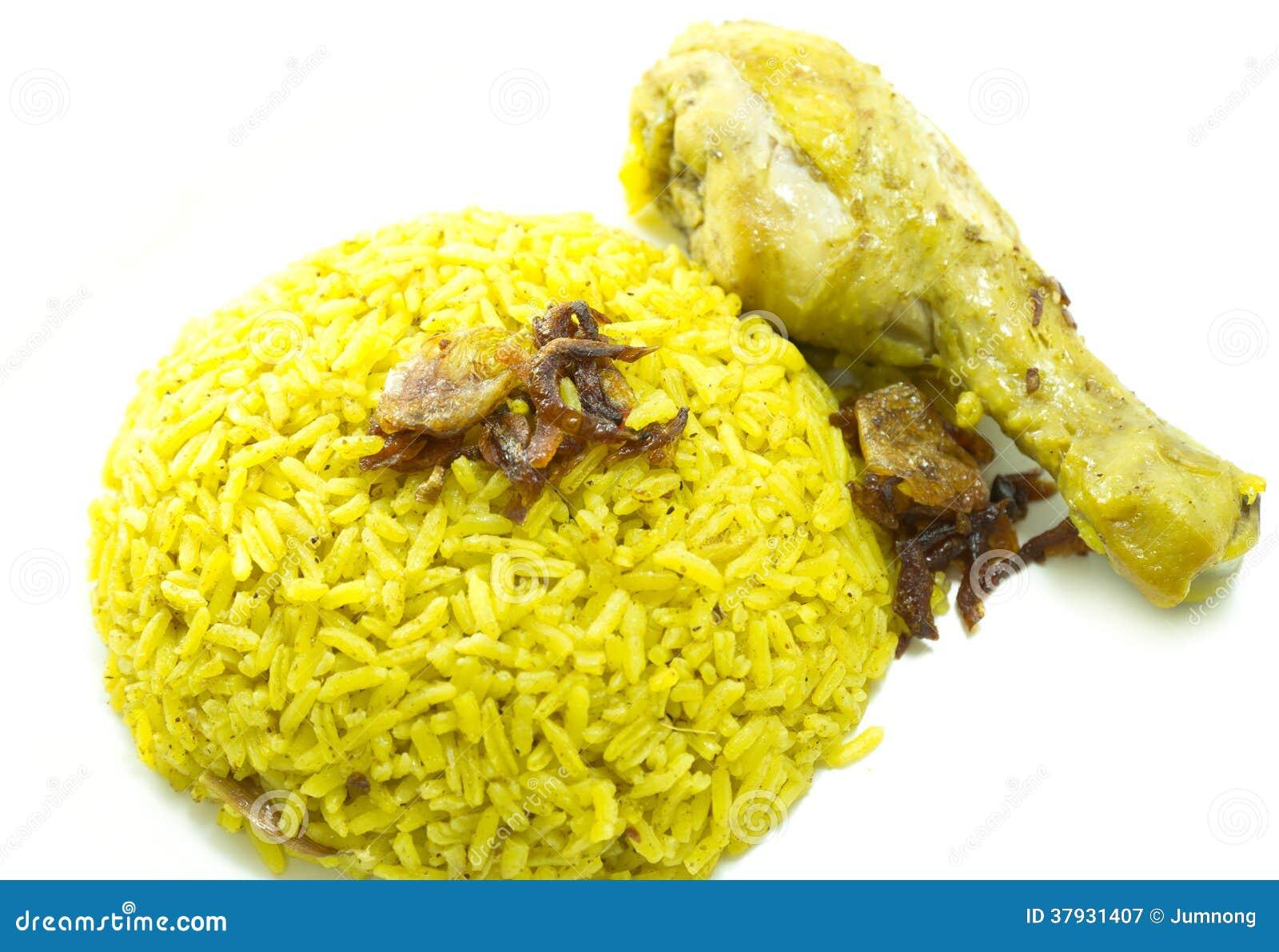 Индийское карри риса цыпленка