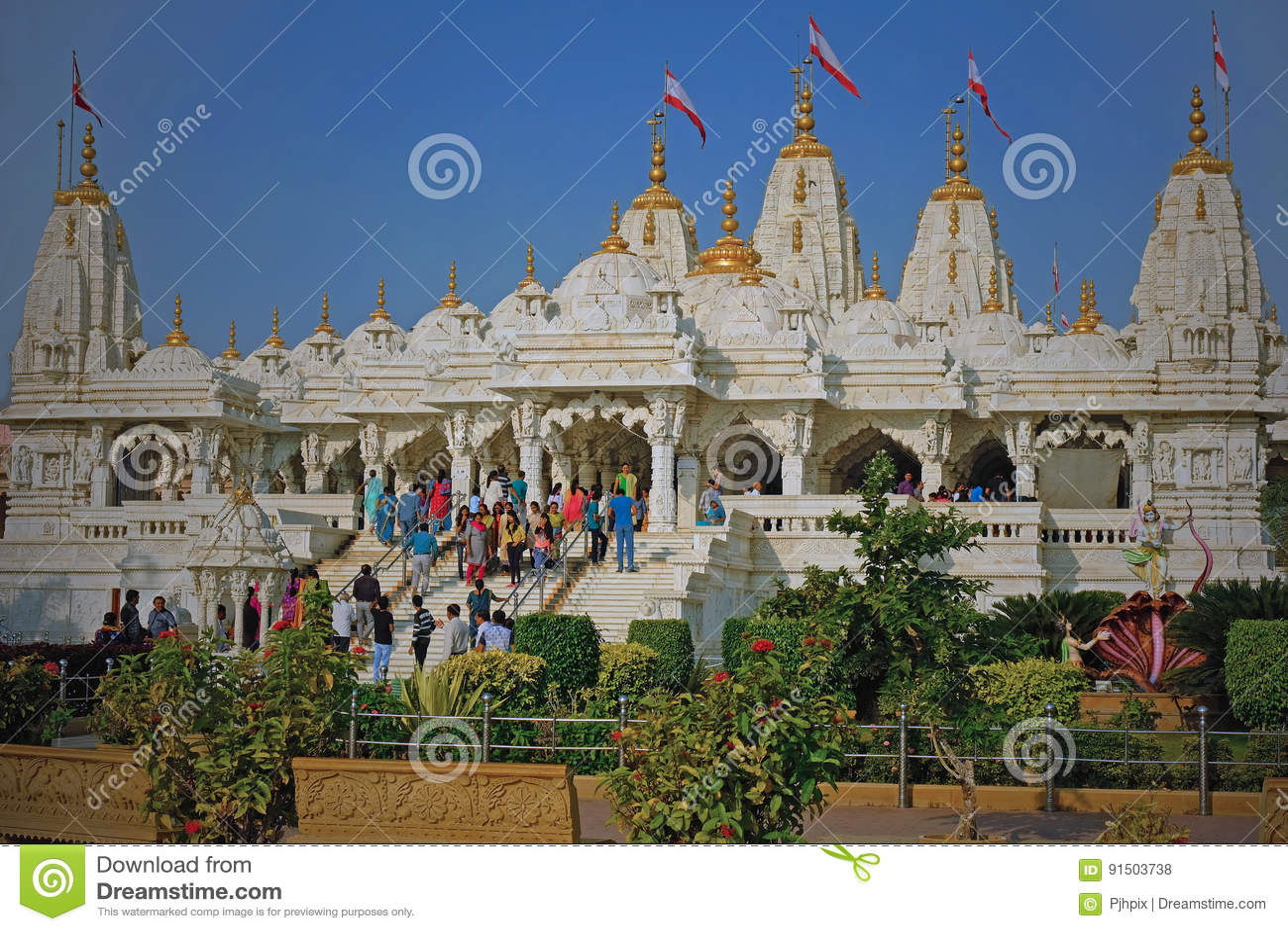 Индусский висок на Bhuj в Гуджарате, Индии