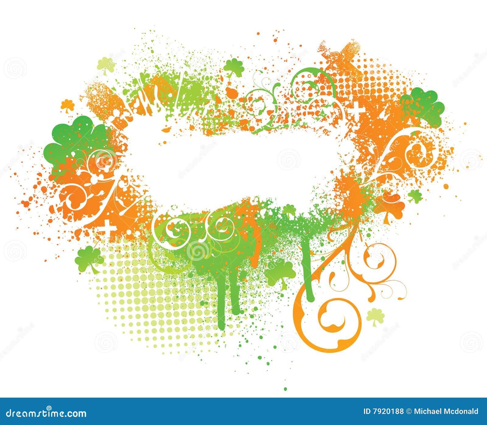 ирландский splatter shamrock краски