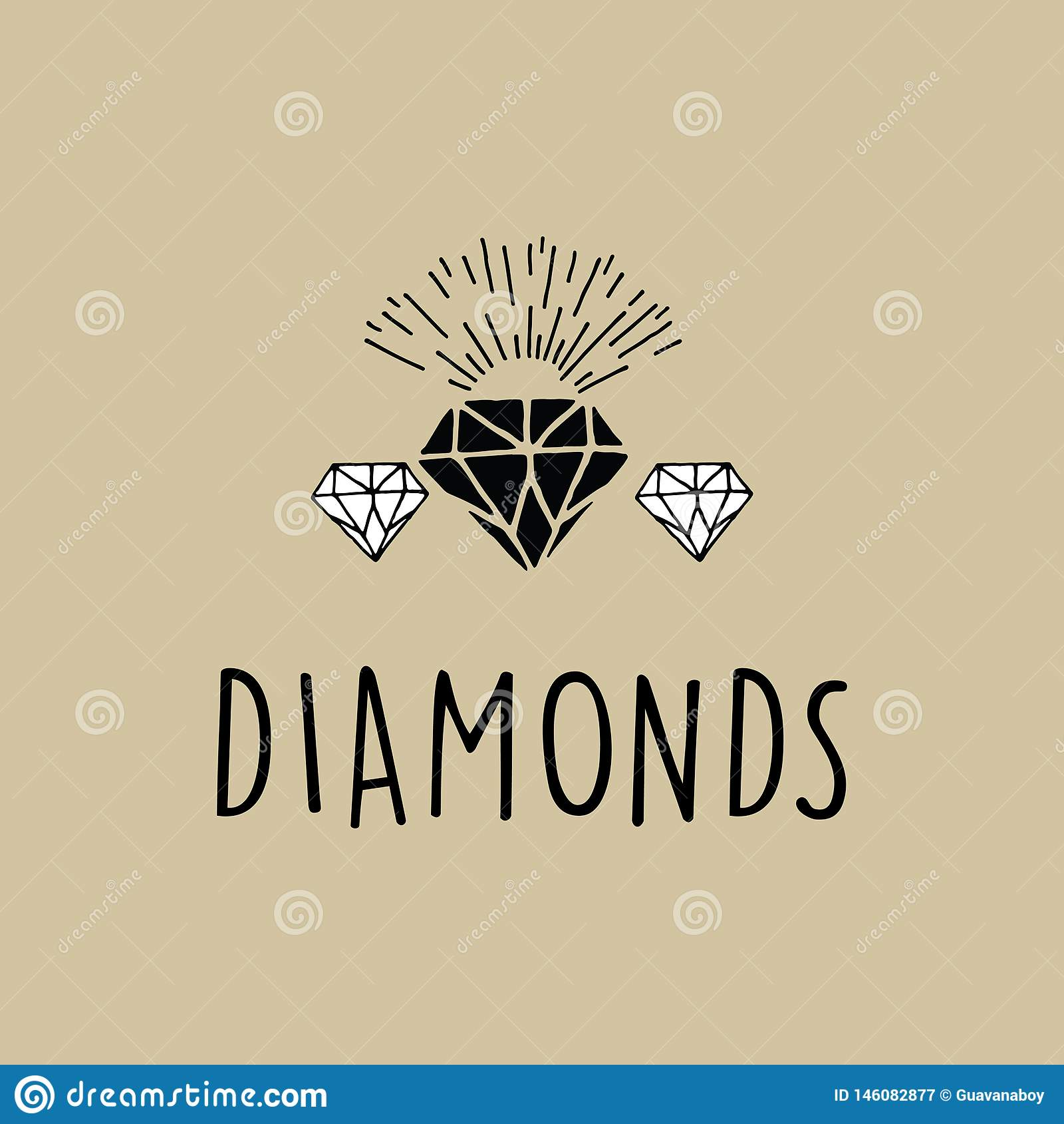 Исключительный вектор диамантов с взрывом солнца