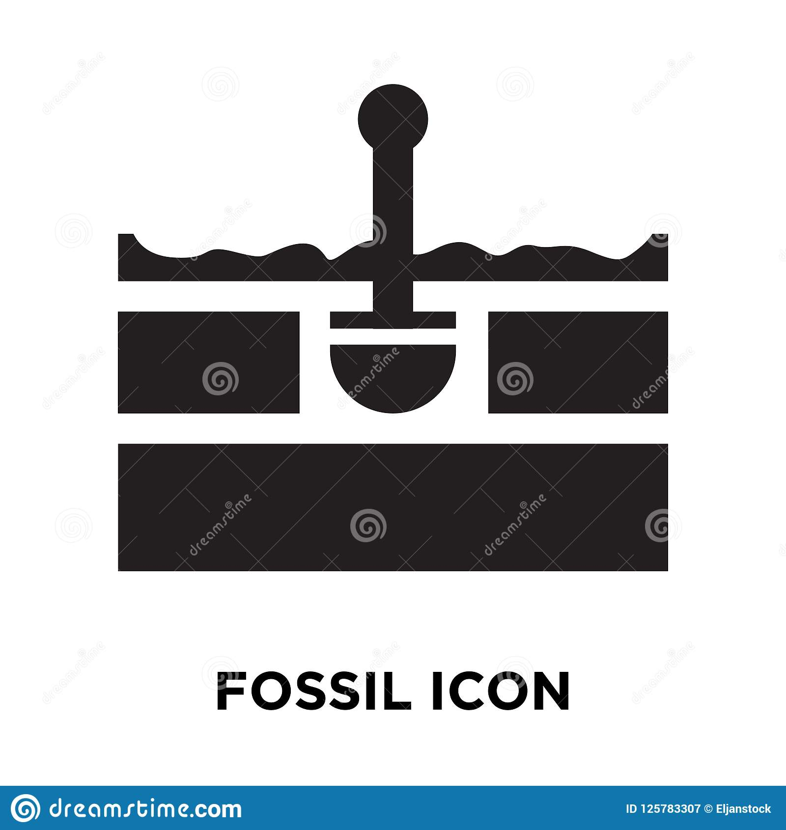 Ископаемый вектор значка изолированный на белой предпосылке, концепции логотипа