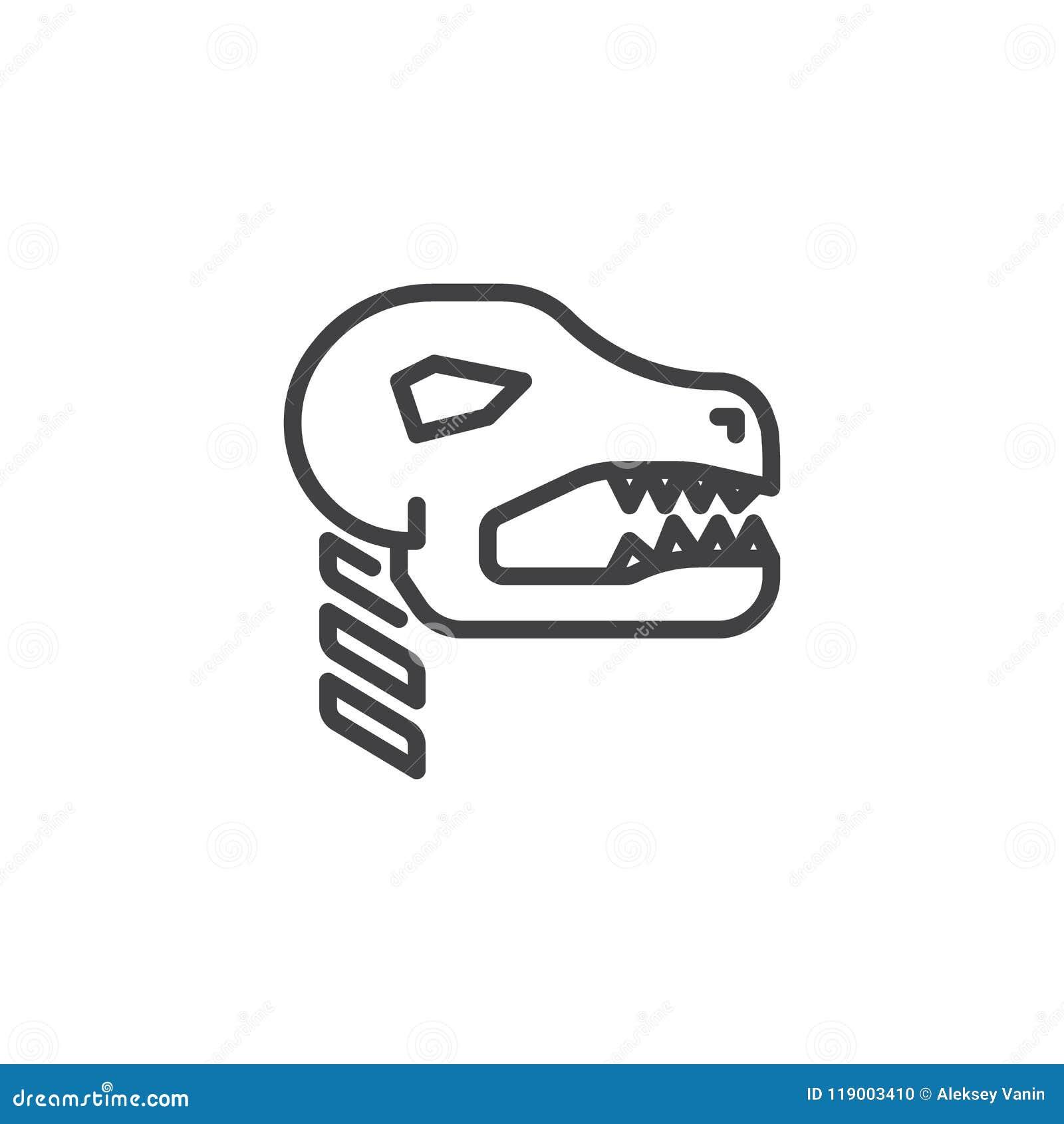 Ископаемый значок плана динозавра