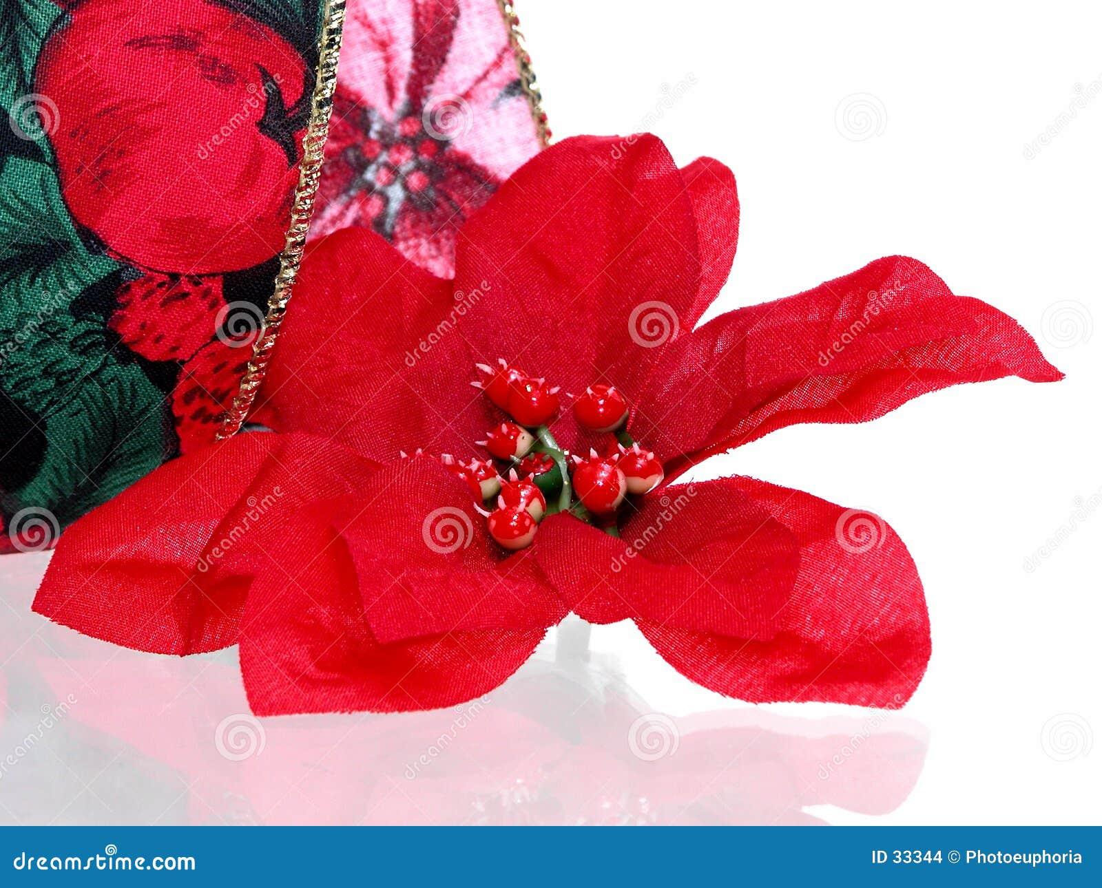 искусственний poinsettia рождества цветеня