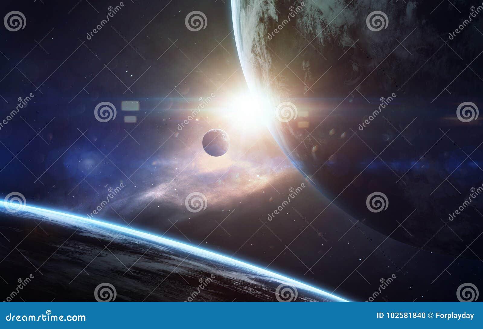 Искусство научной фантастики Красота глубокого космоса Элементы этого изображения поставленные NASA