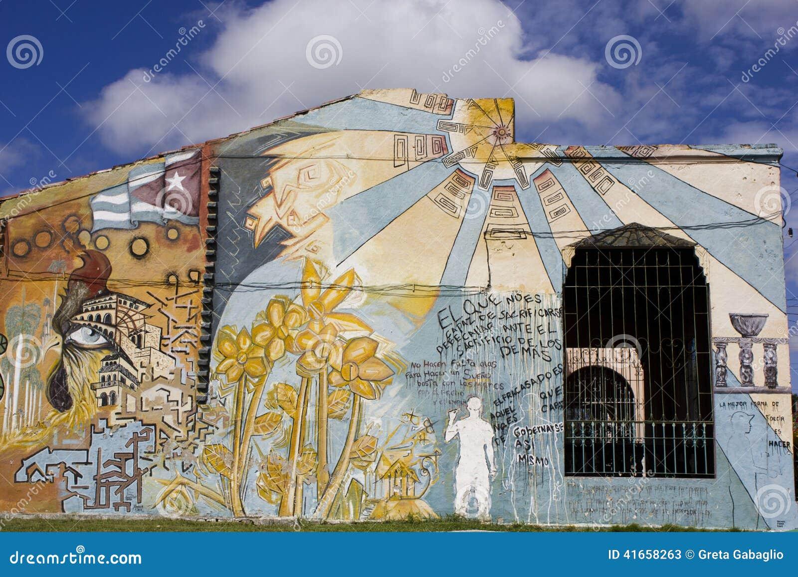 Искусство улицы в Santa Clara, Кубе