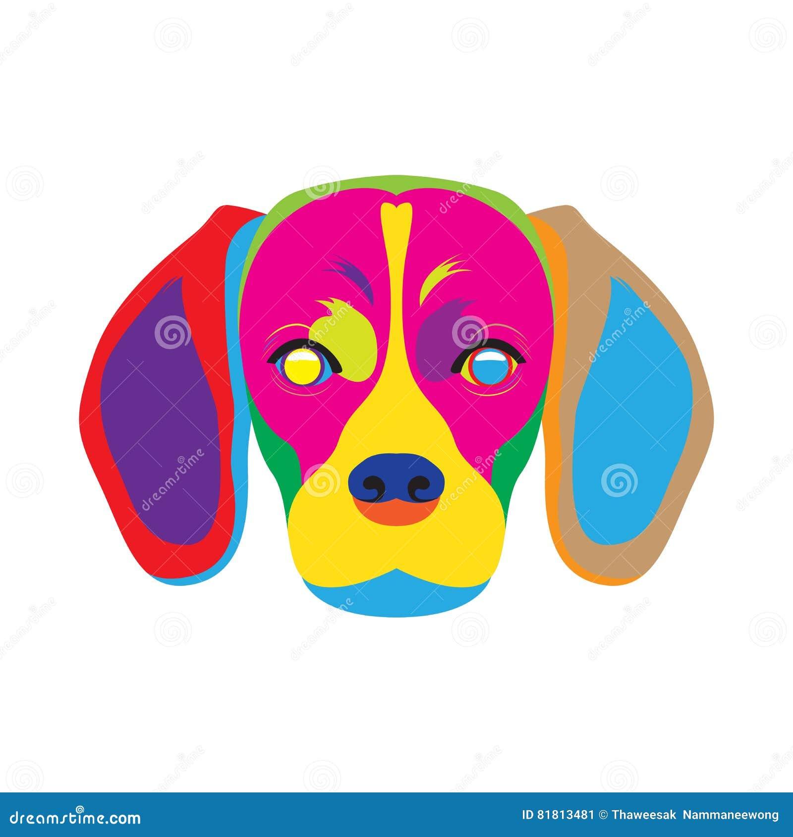 Искусство цвета собаки бигля