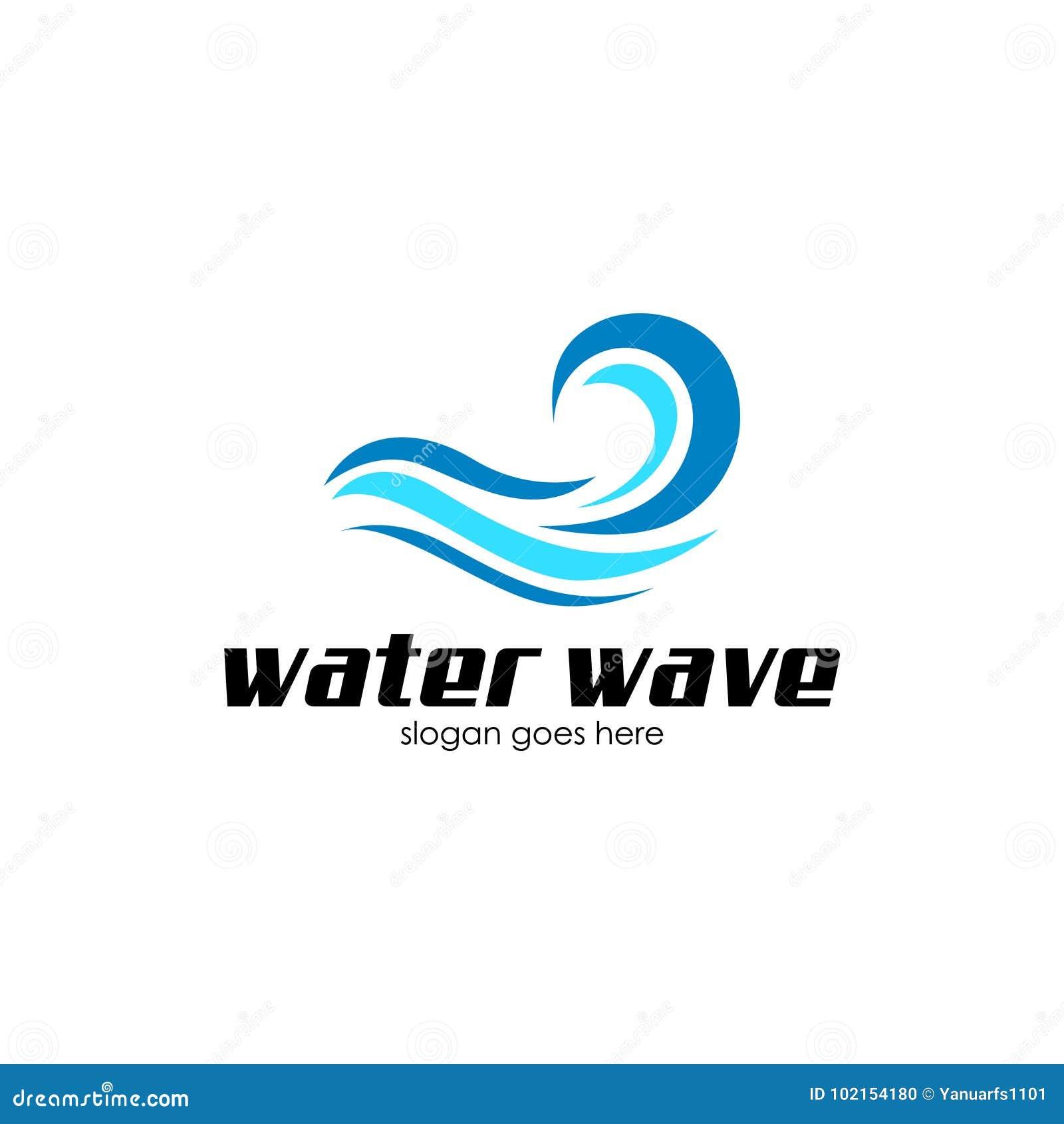 Искусство Vecto логотипа волны воды