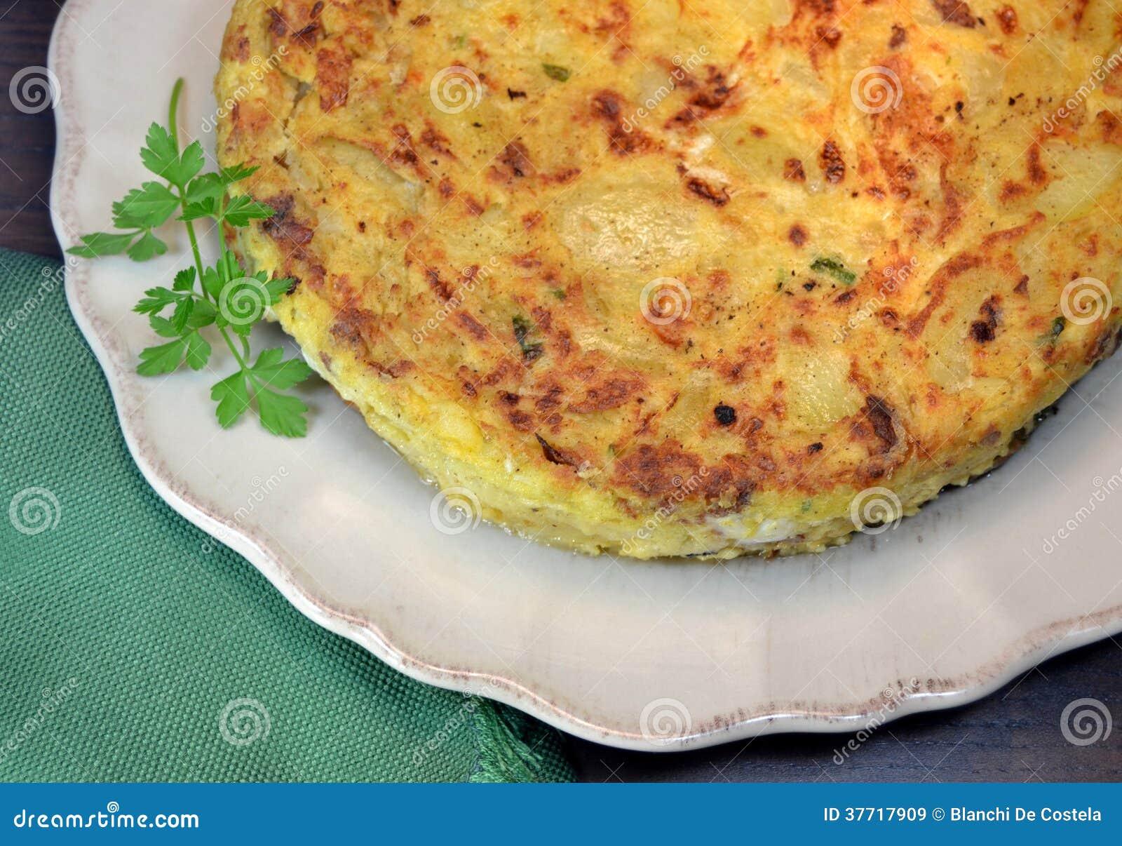 Испанский омлет картошки