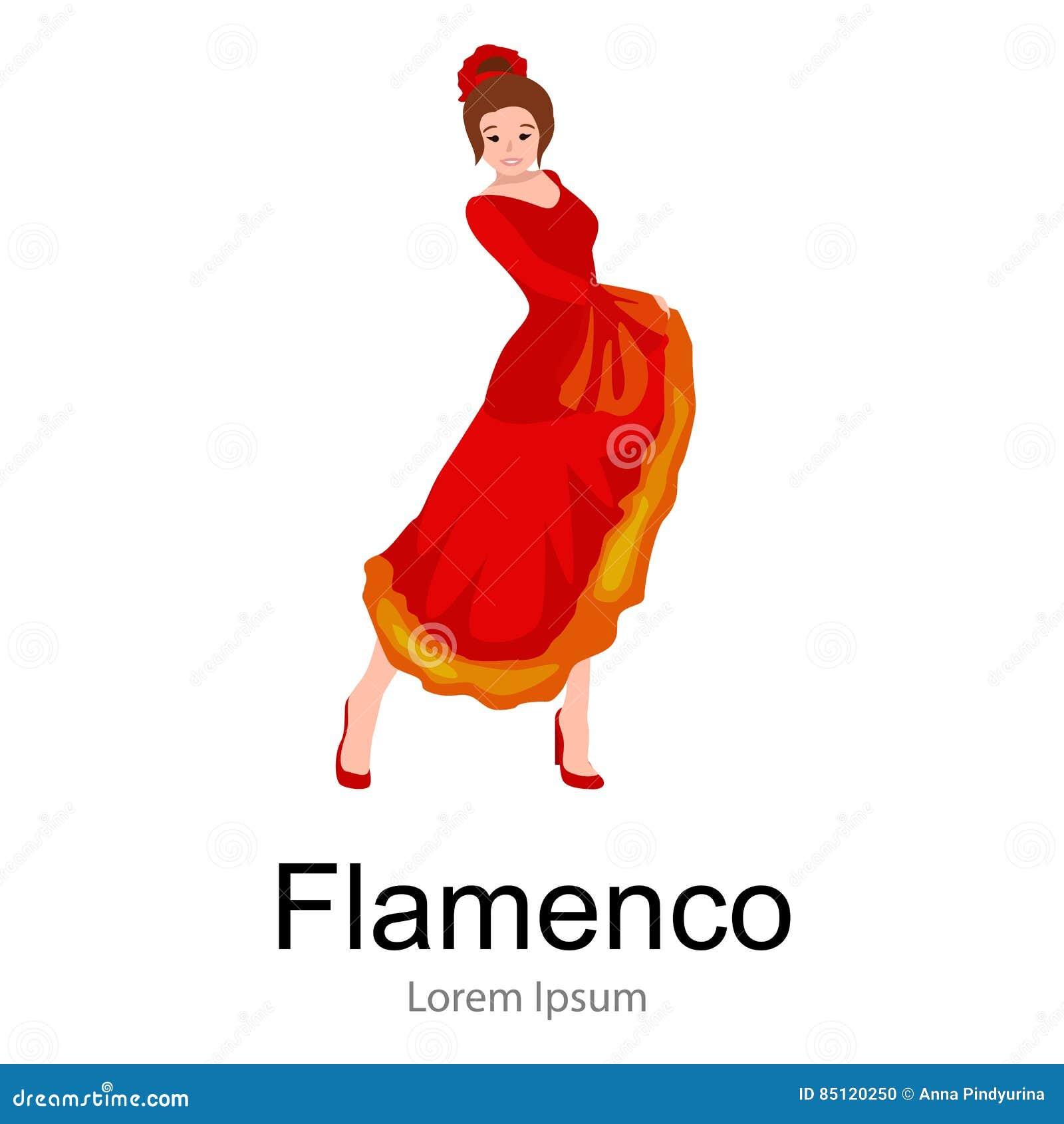 Сексуальная девушка в красном танцует