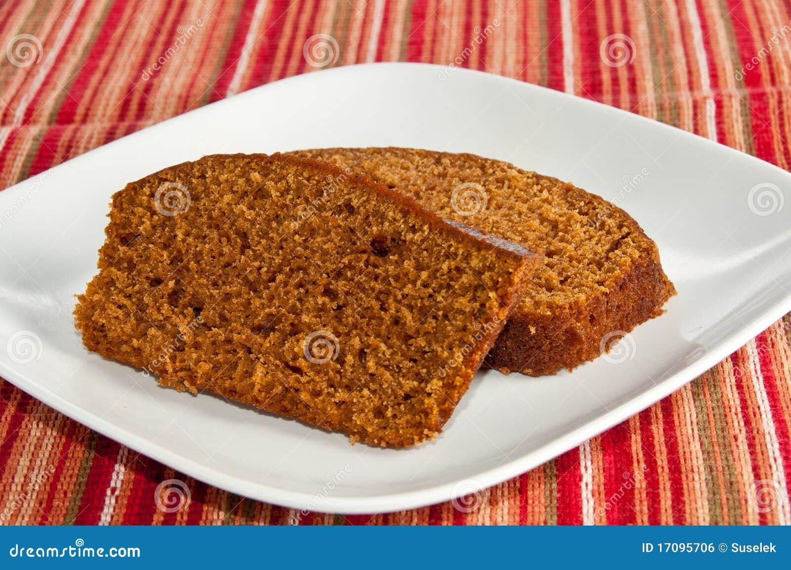 испеченные ломтики 2 тыквы хлеба свеже