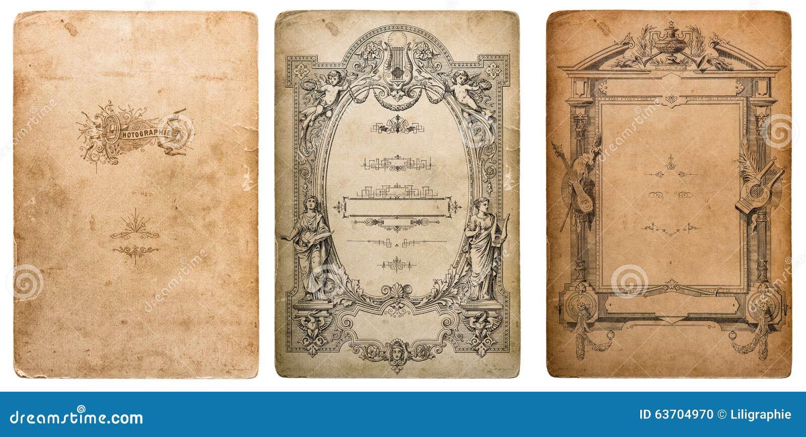 Используемая текстура картона фото Старая бумага с верхними слоями краев