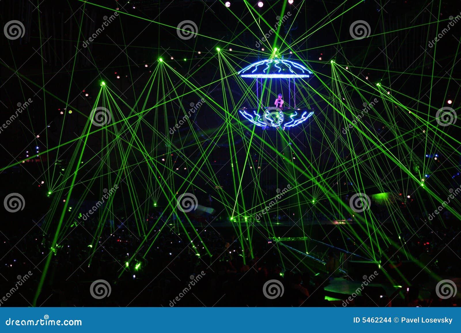 испускает лучи лазер dj
