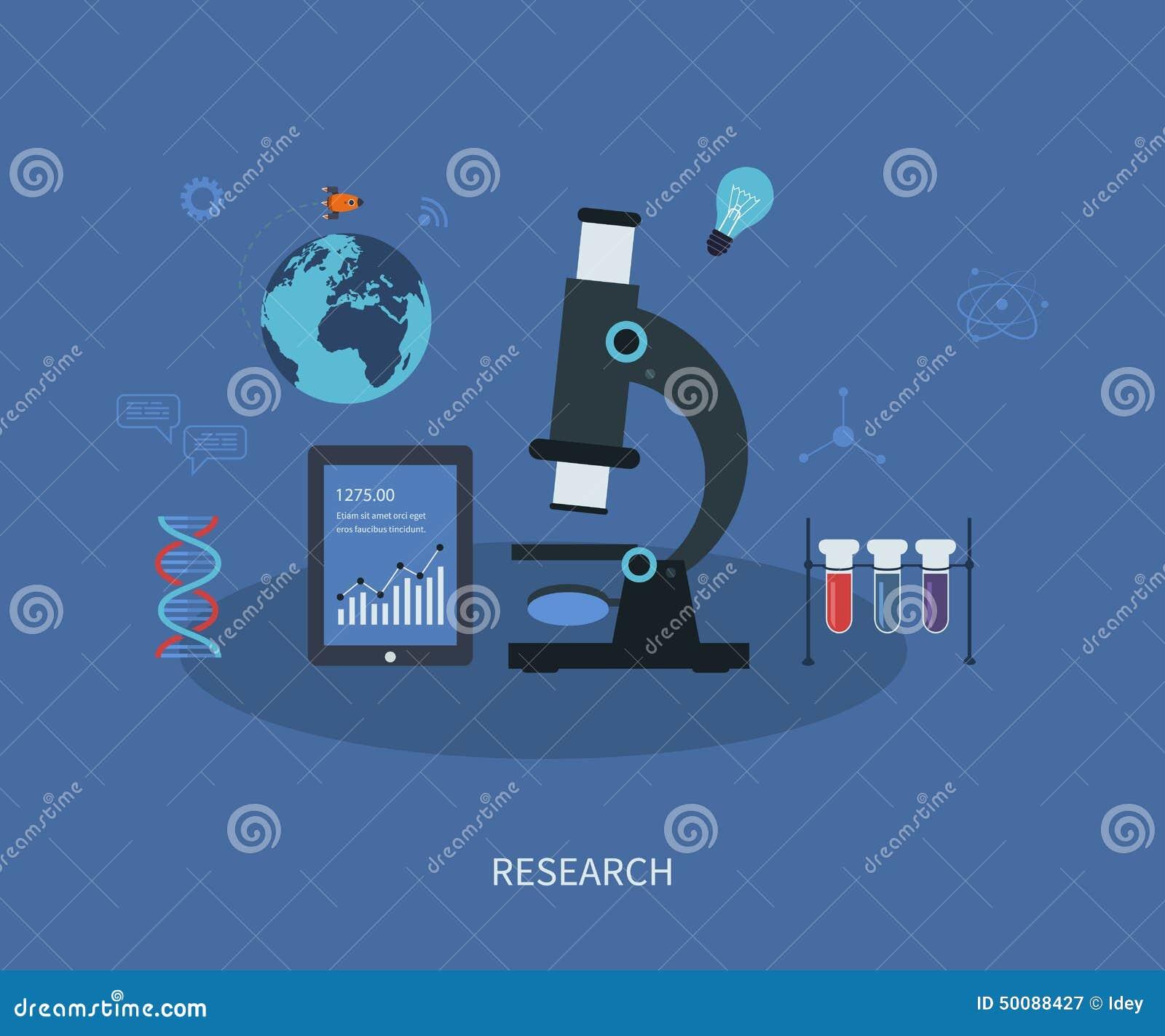 Исследование вектора плоско infographic с лабораторией
