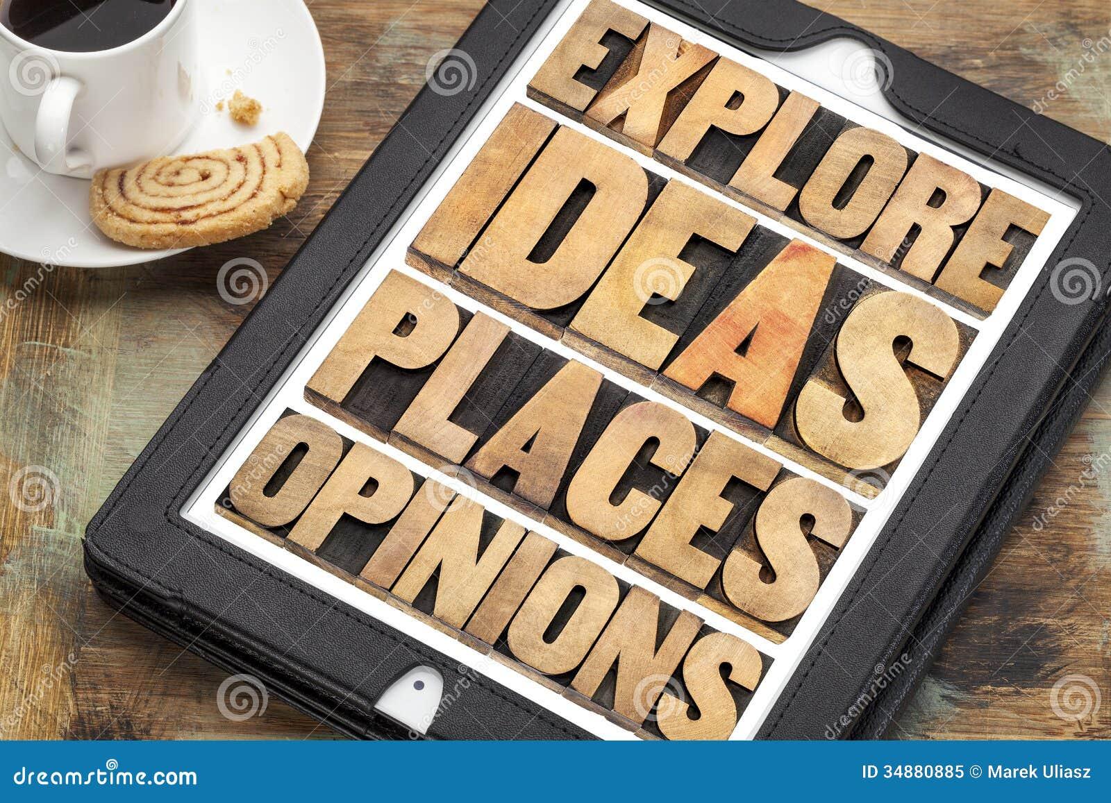 Исследуйте идеи, места и мнения