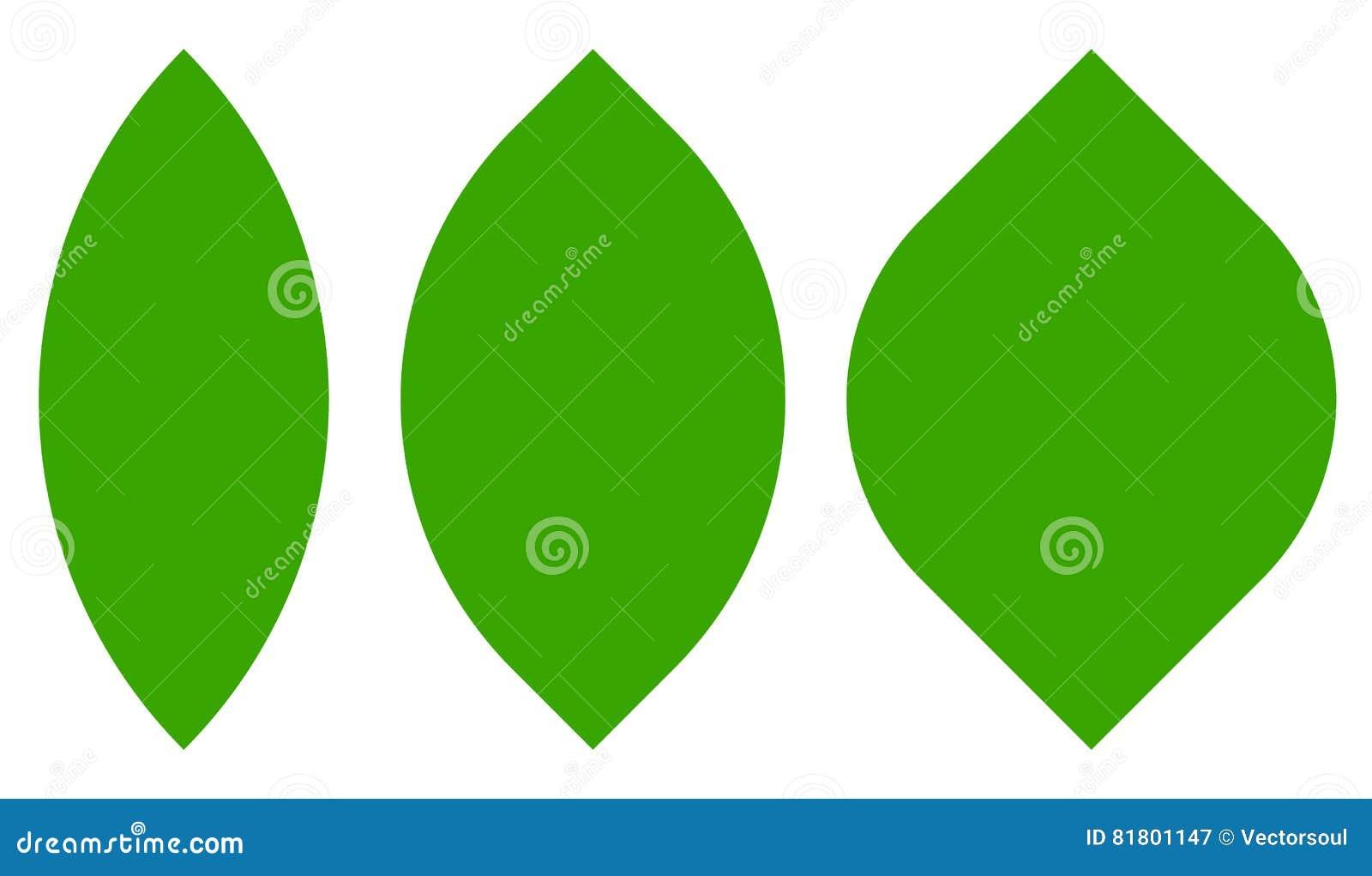 3 листа, формы завода изолированного на белизне