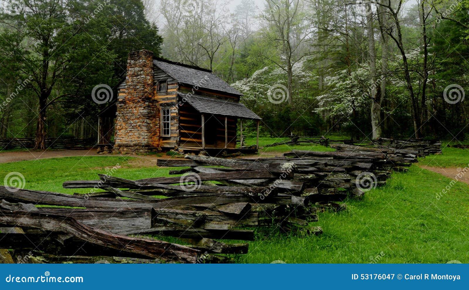 Историческая закоптелая кабина горы