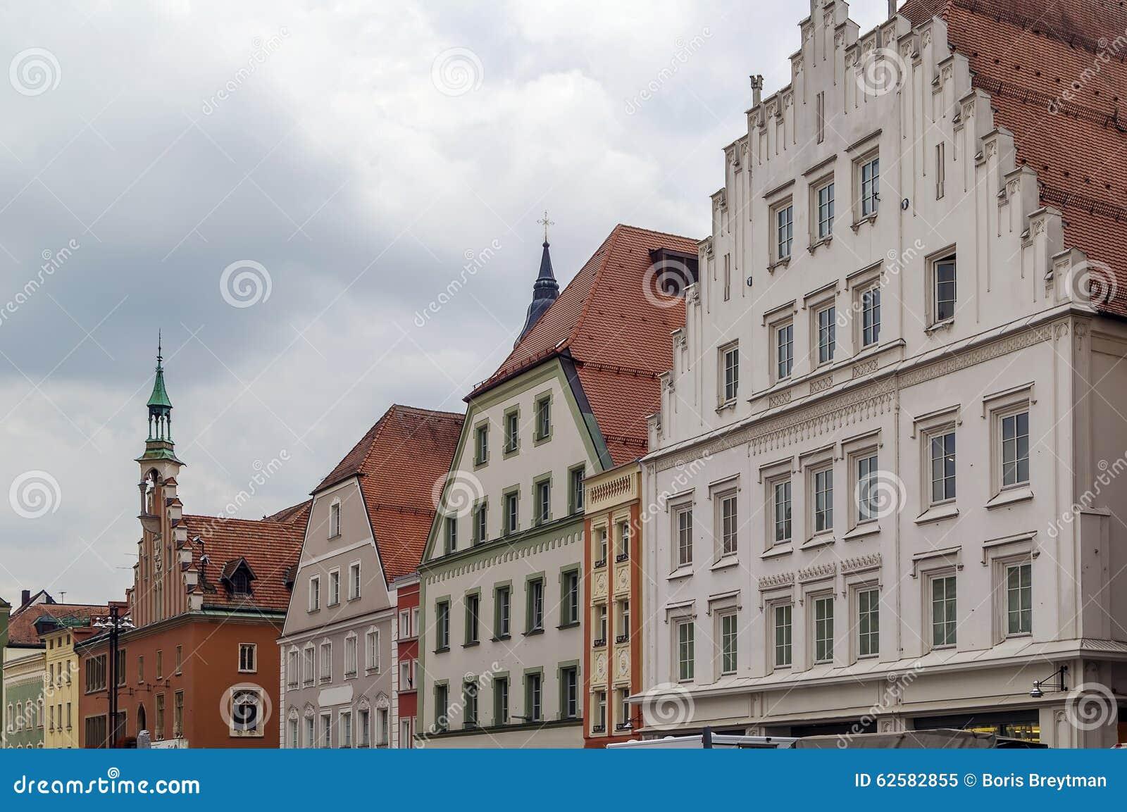 Исторические дома в Straubing, Германии