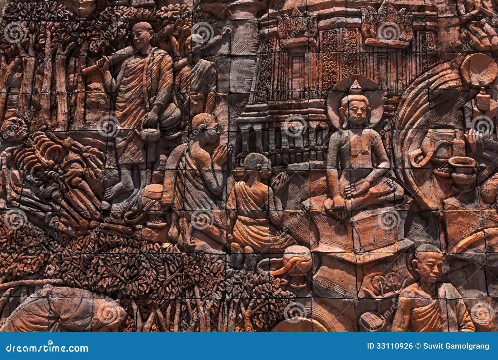 История Buddaha на стене