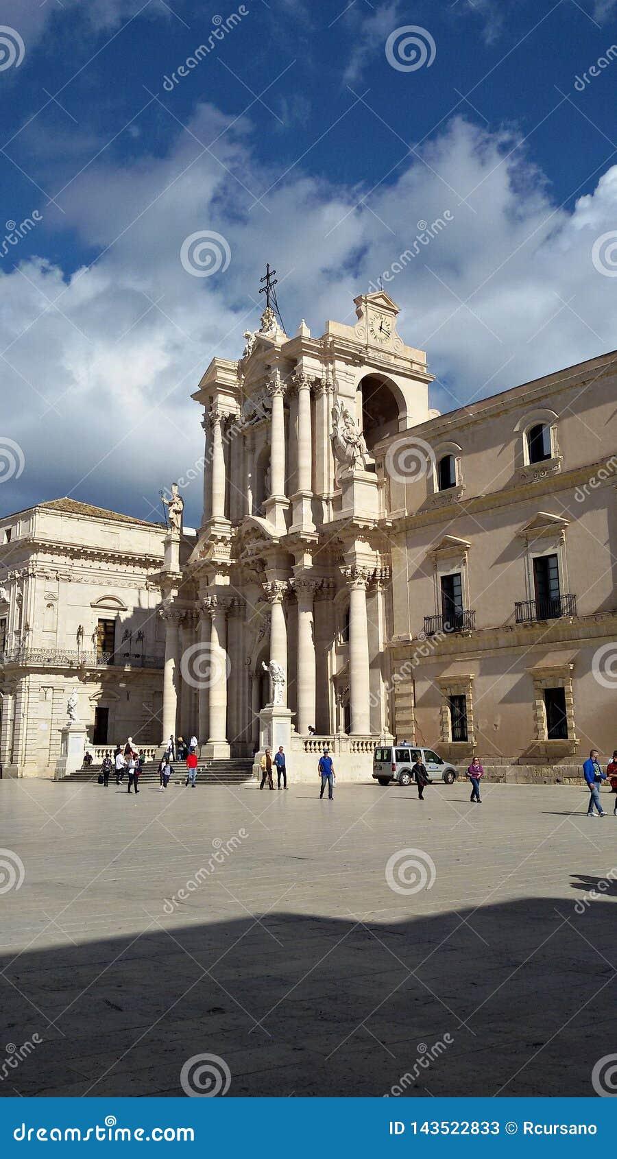 Италия, Сицилия, Трапани: Квадрат собора Сиракузы