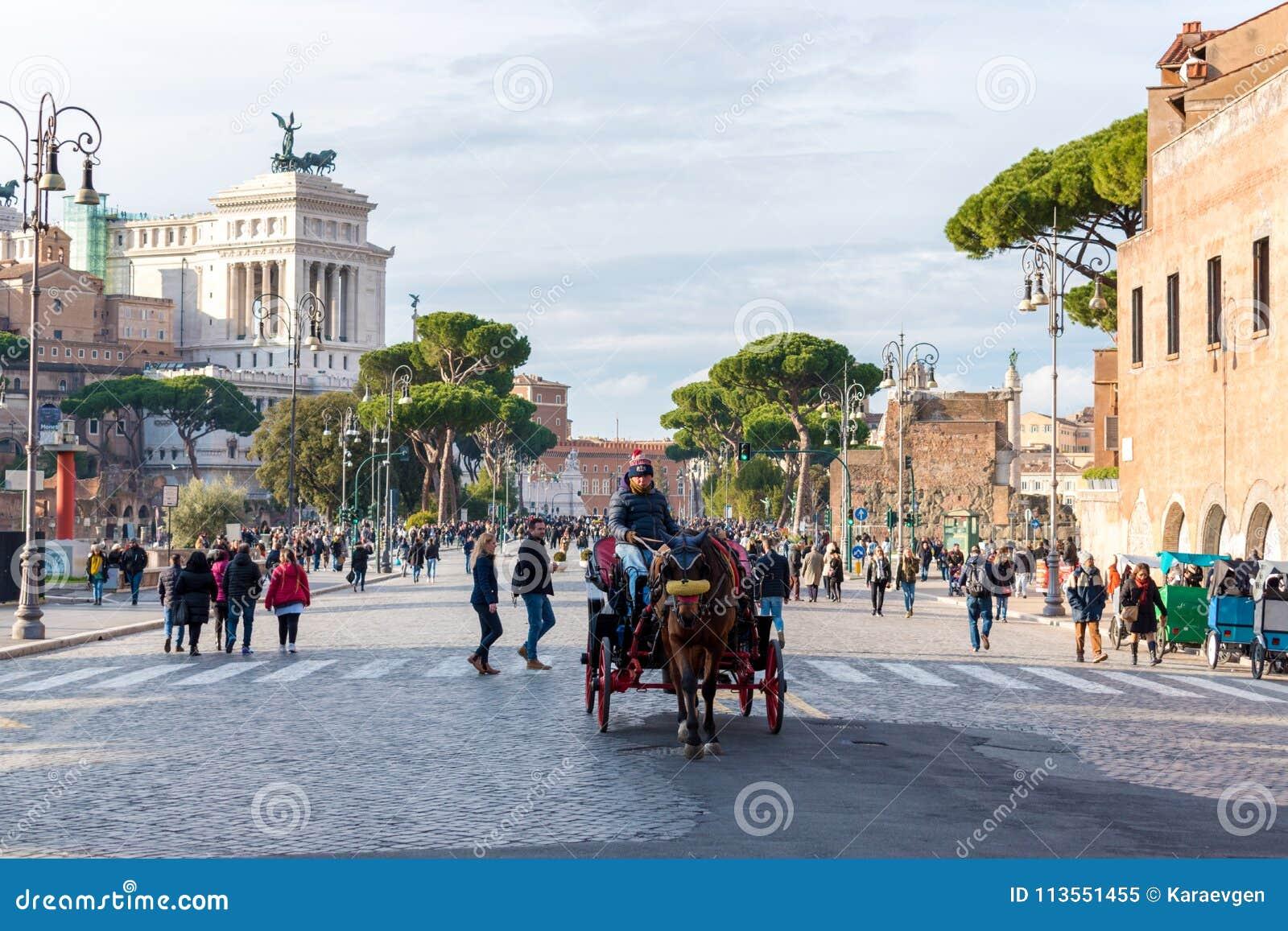 Италия rome 3-ье декабря 2017 Красивый взгляд городского пейзажа Рима