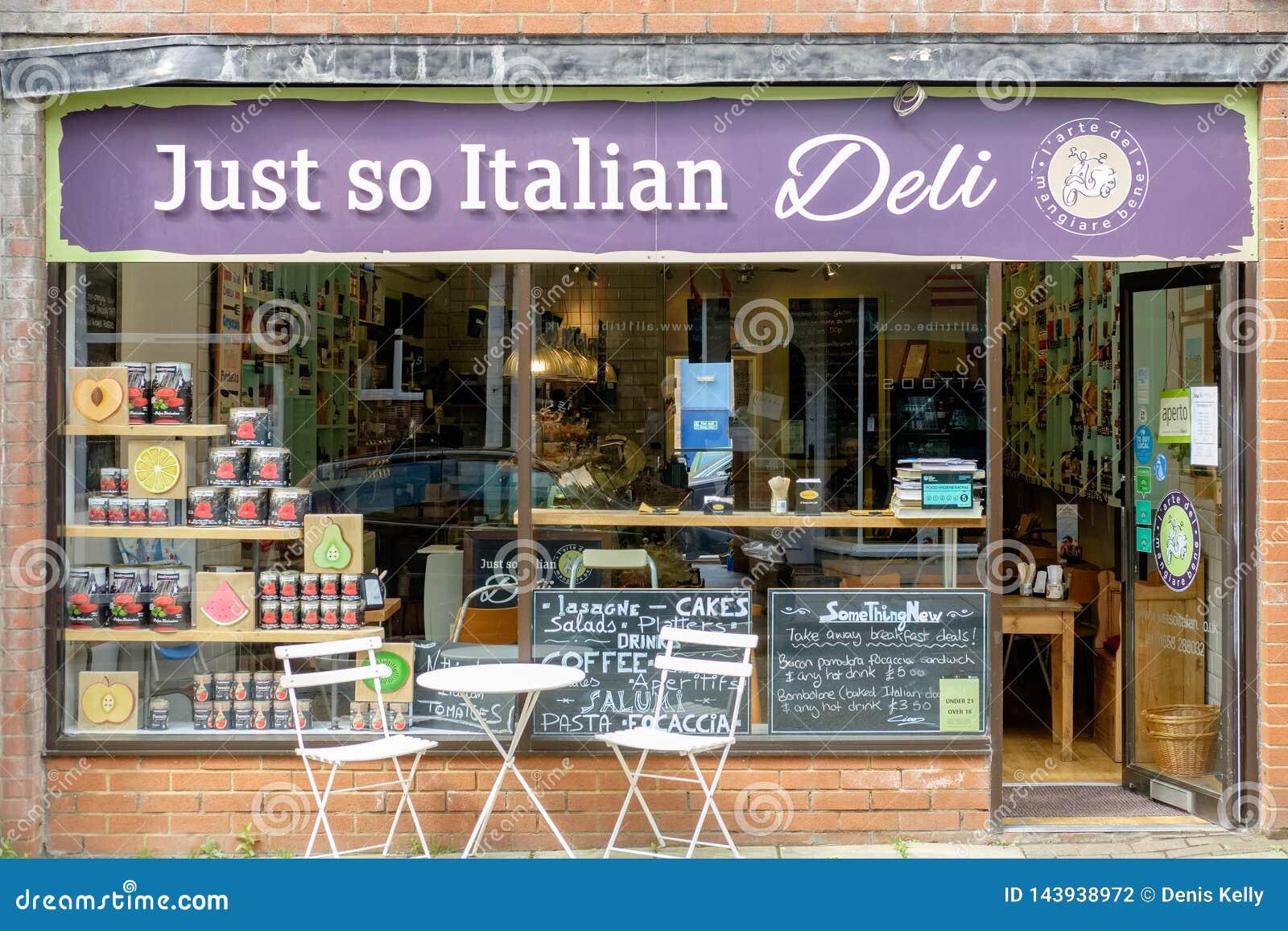 Итальянский деликатес в Лестершире, Великобритании