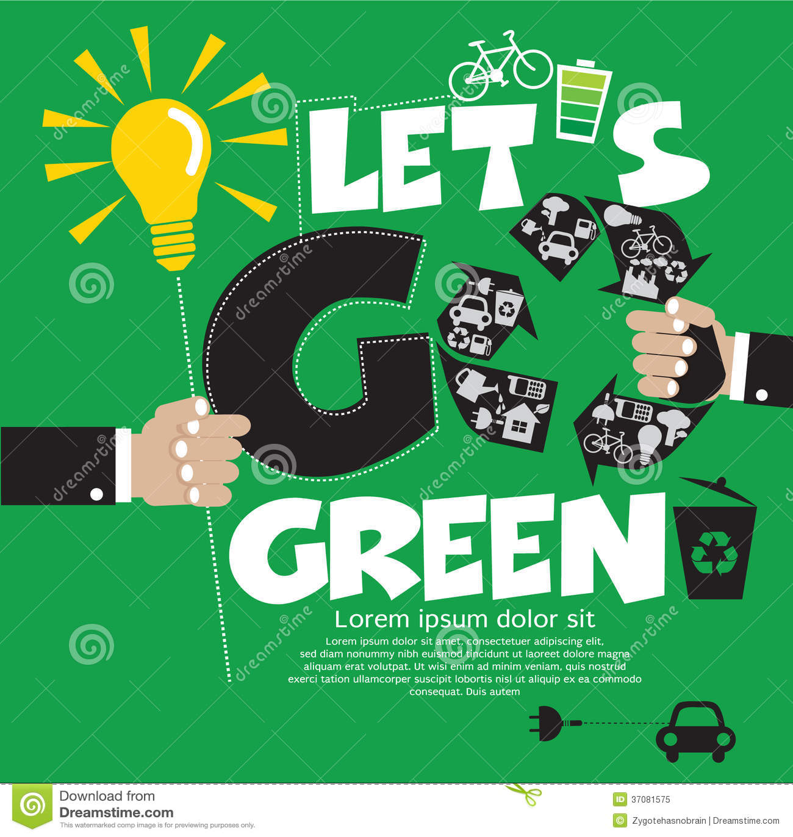 Идет зеленая концепция.