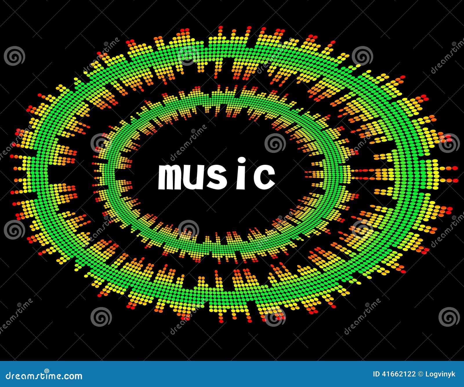 Иллюстрация бара выравнивателя музыки красочного