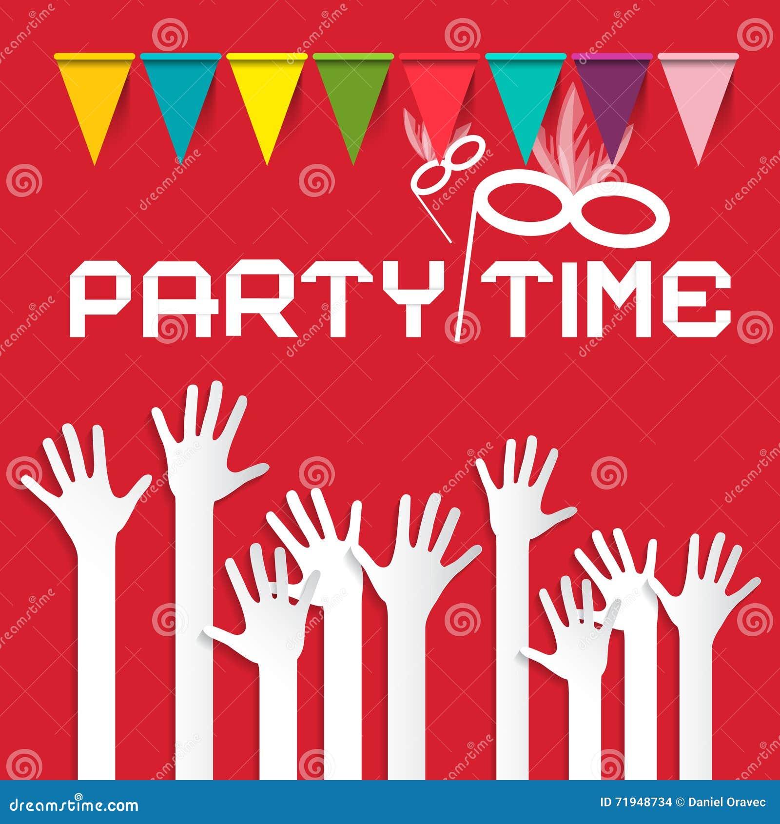 Иллюстрация вектора времени партии