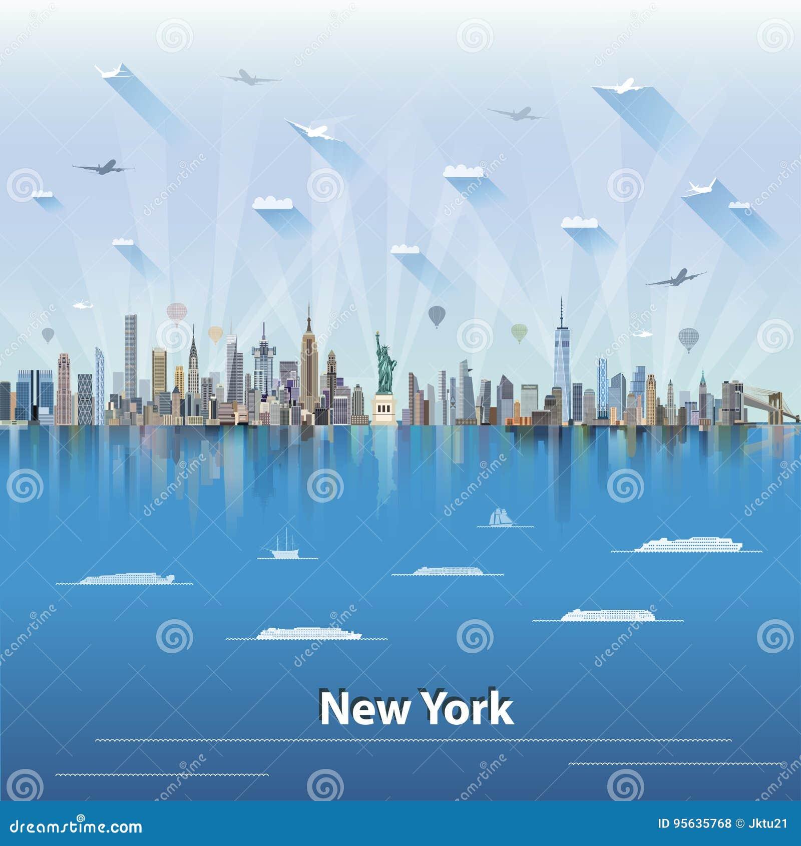 иллюстрация вектора горизонта Нью-Йорка