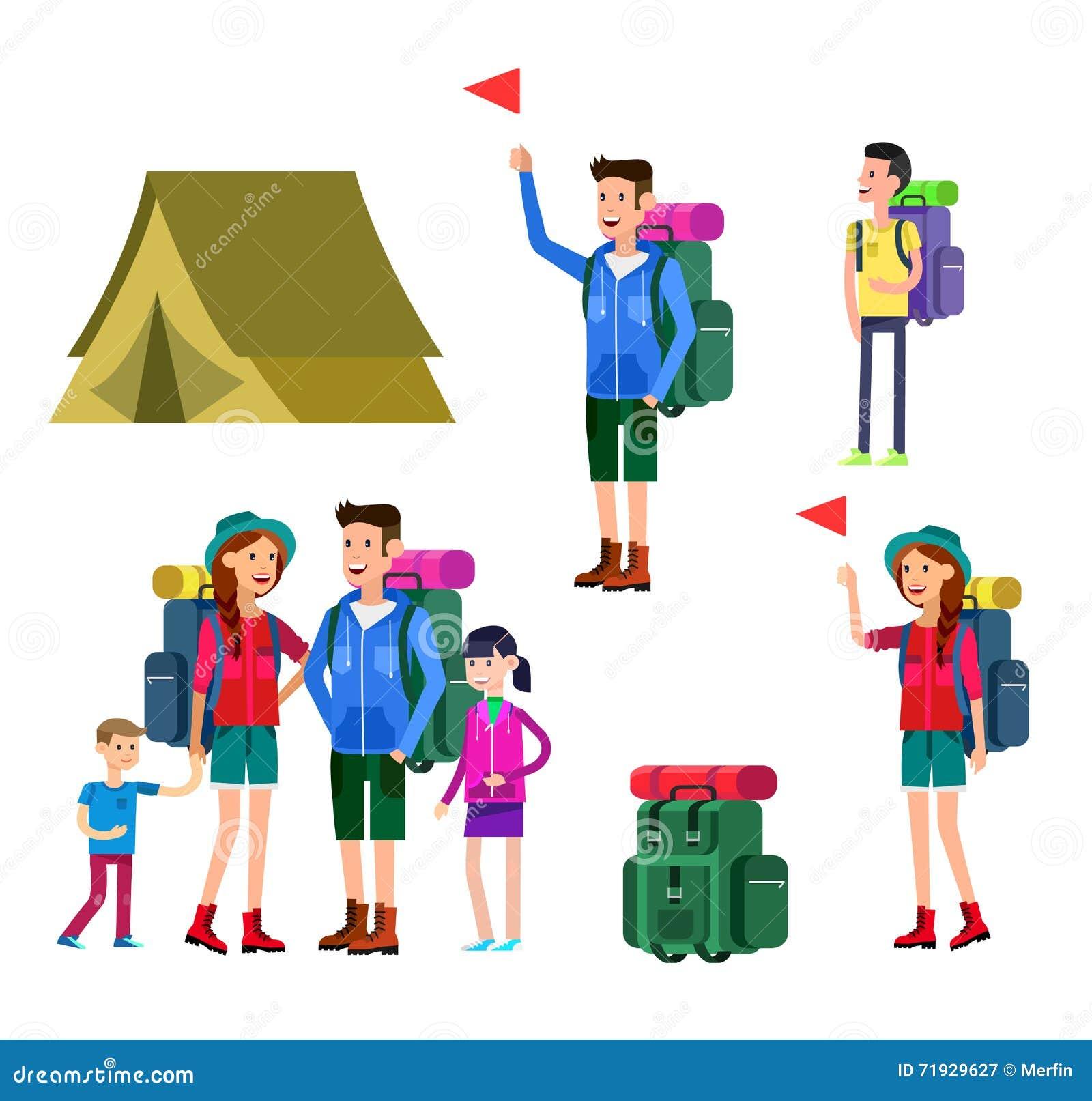 Иллюстрация вектора летнего лагеря детей