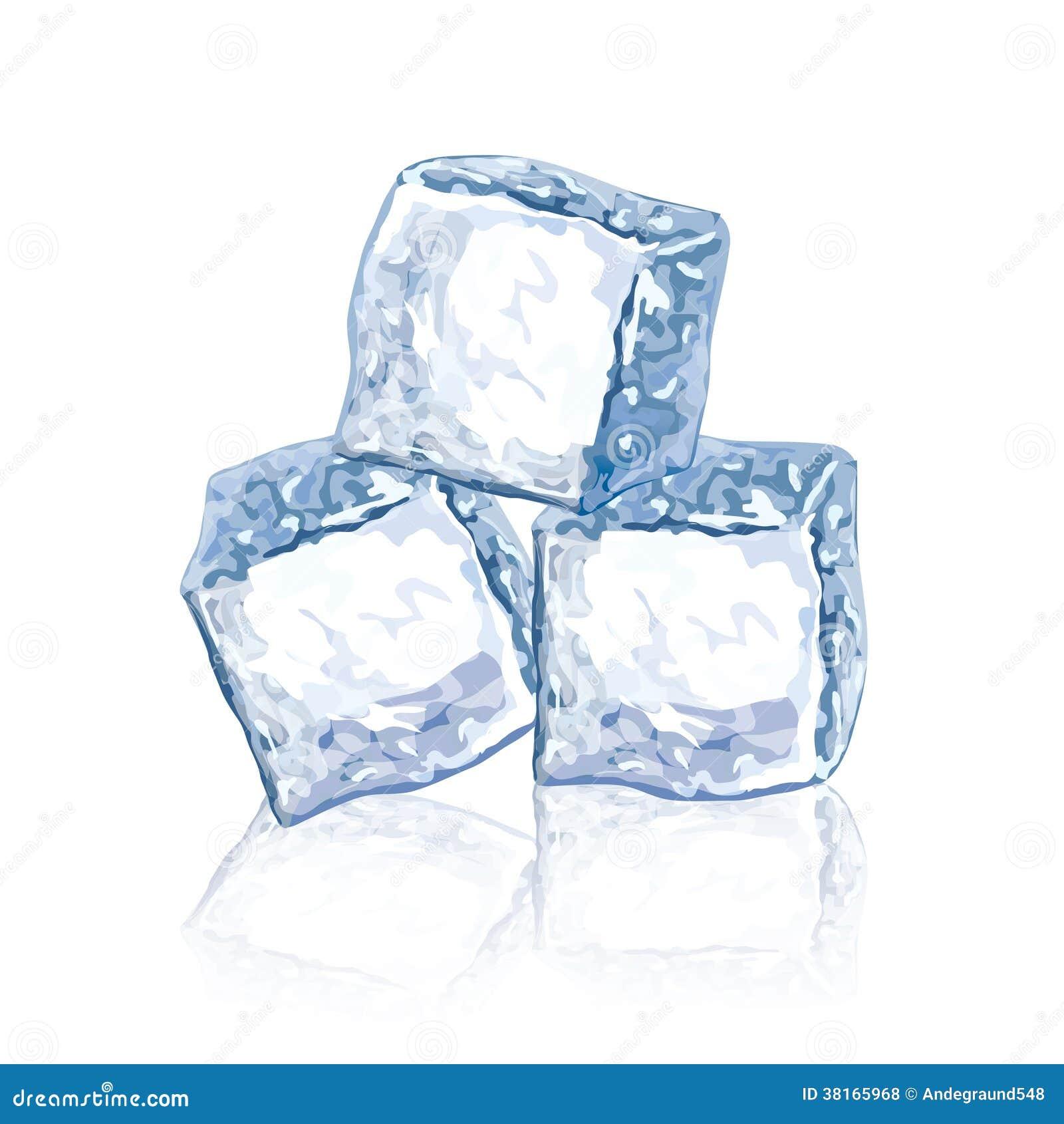 Иллюстрация вектора кубов льда