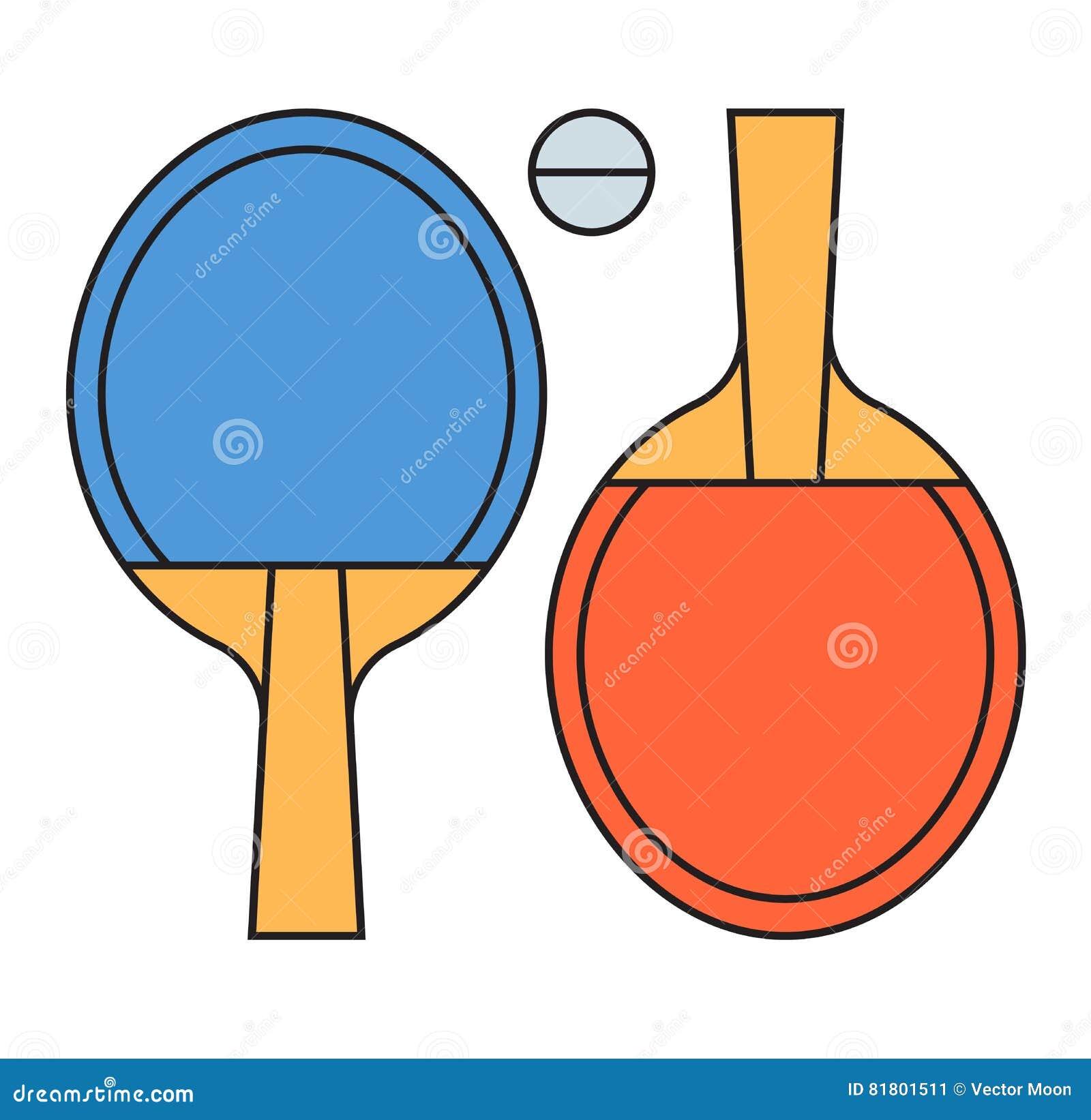 Иллюстрация вектора пингпонга настольного тенниса