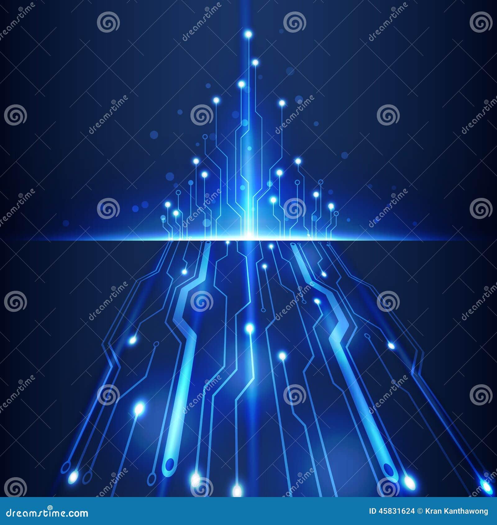 Иллюстрация вектора предпосылки дела компьютерной технологии абстрактной футуристической цепи высокая