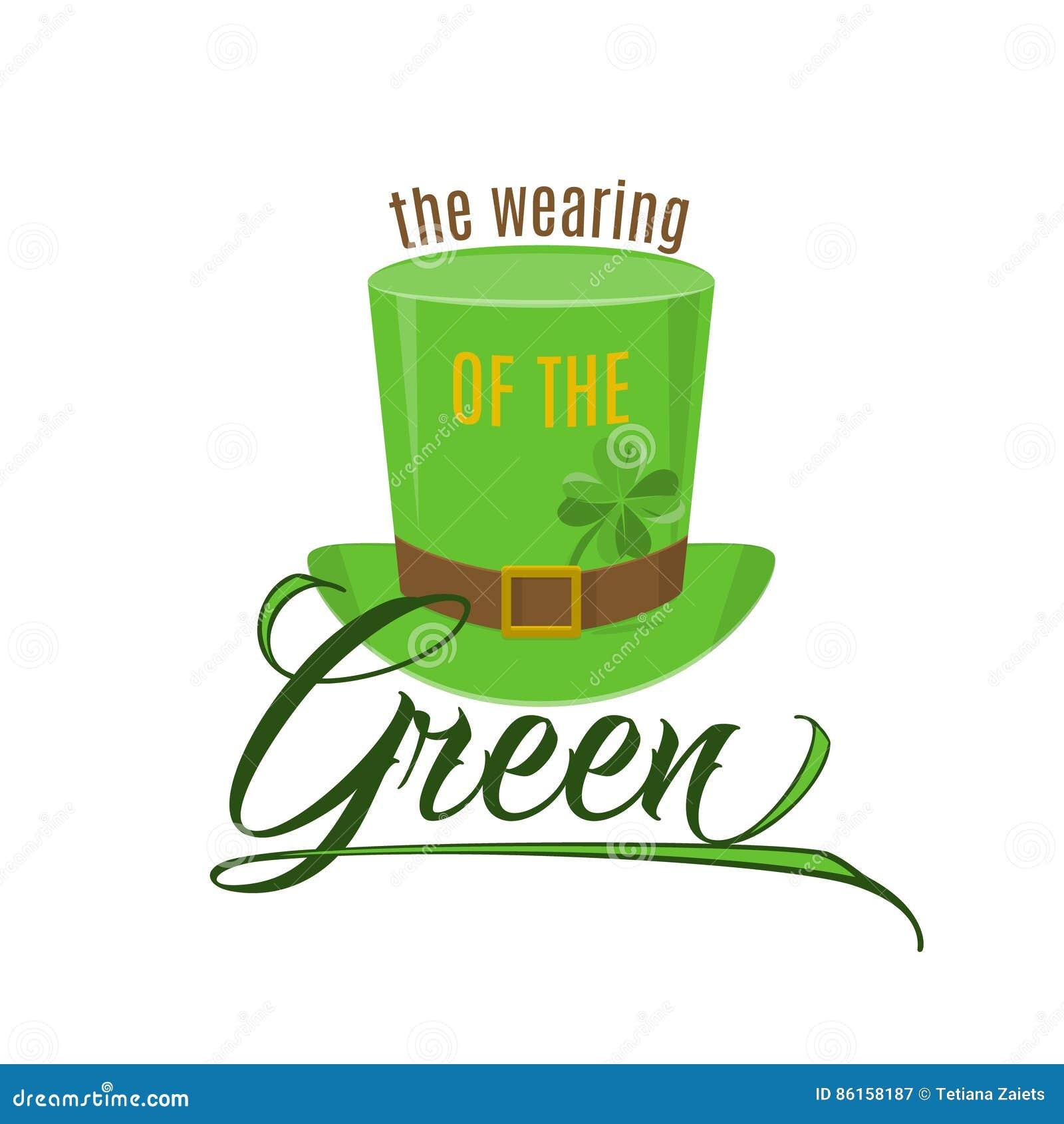 Иллюстрация вектора холодной цитаты потехи носить зеленого цвета