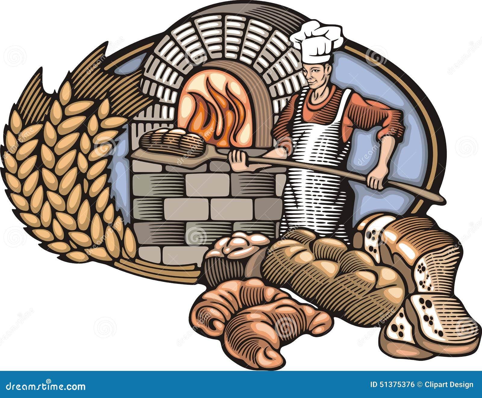 Download Иллюстрация вектора хлебопека в стиле Woodcut Иллюстрация вектора - иллюстрации насчитывающей шесток, печь: 51375376