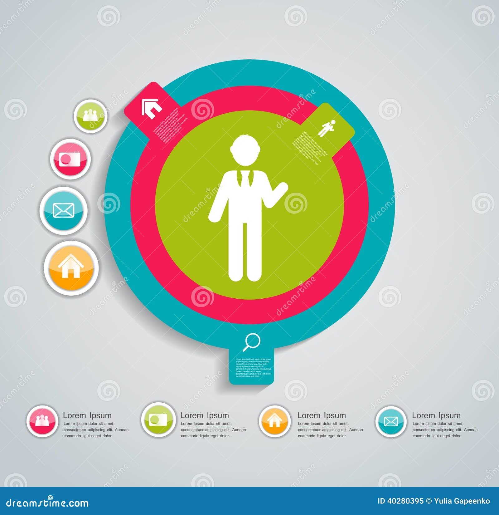 Иллюстрация вектора шаблона дела Infographic