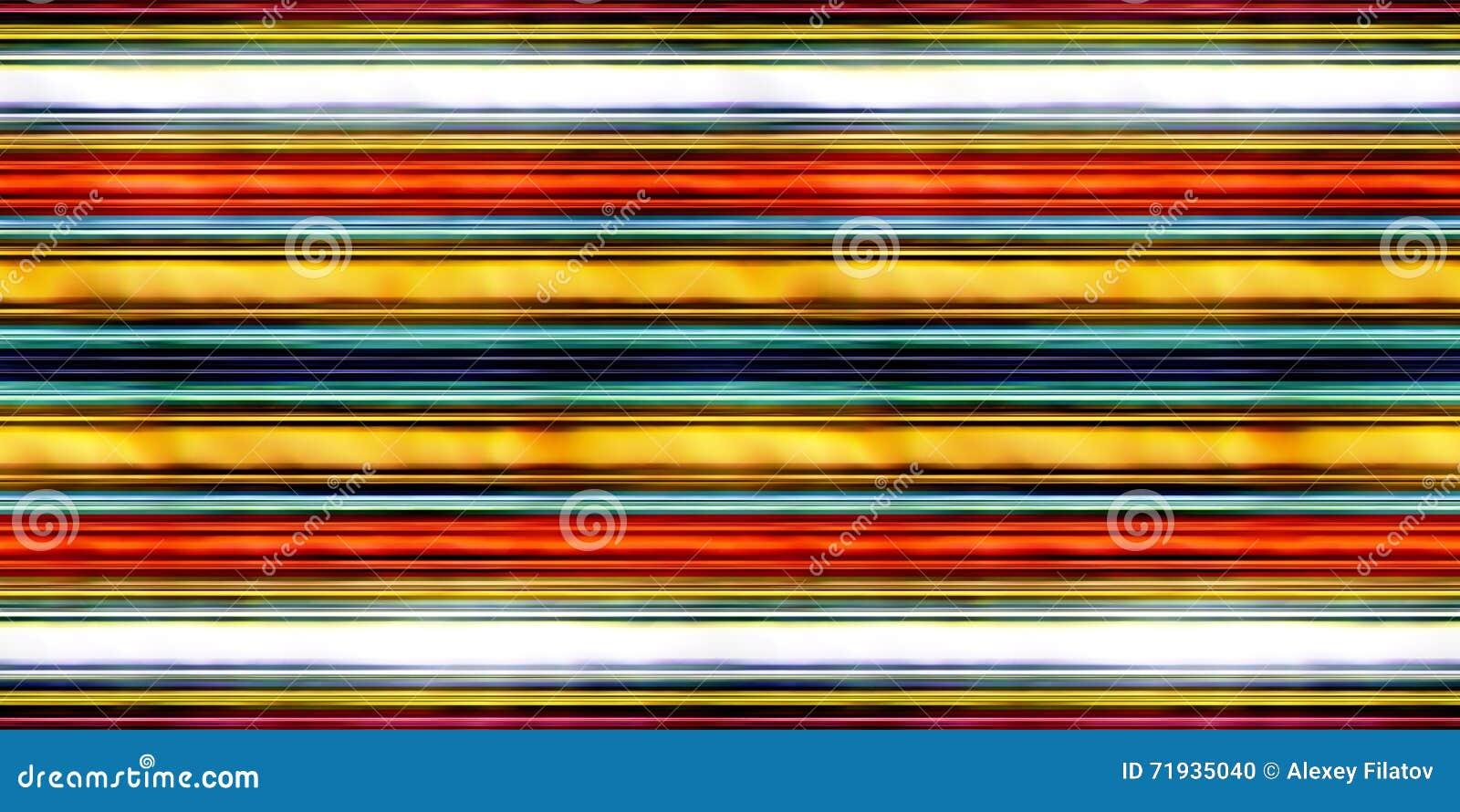 Иллюстрация горизонтальных прямых 3D безшовной текстуры пестротканая