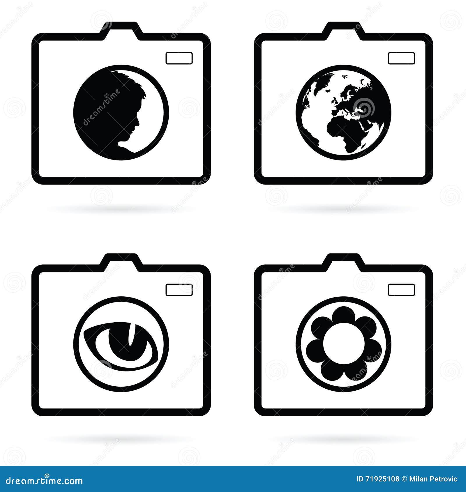 Иллюстрация искусства значка камеры установленная