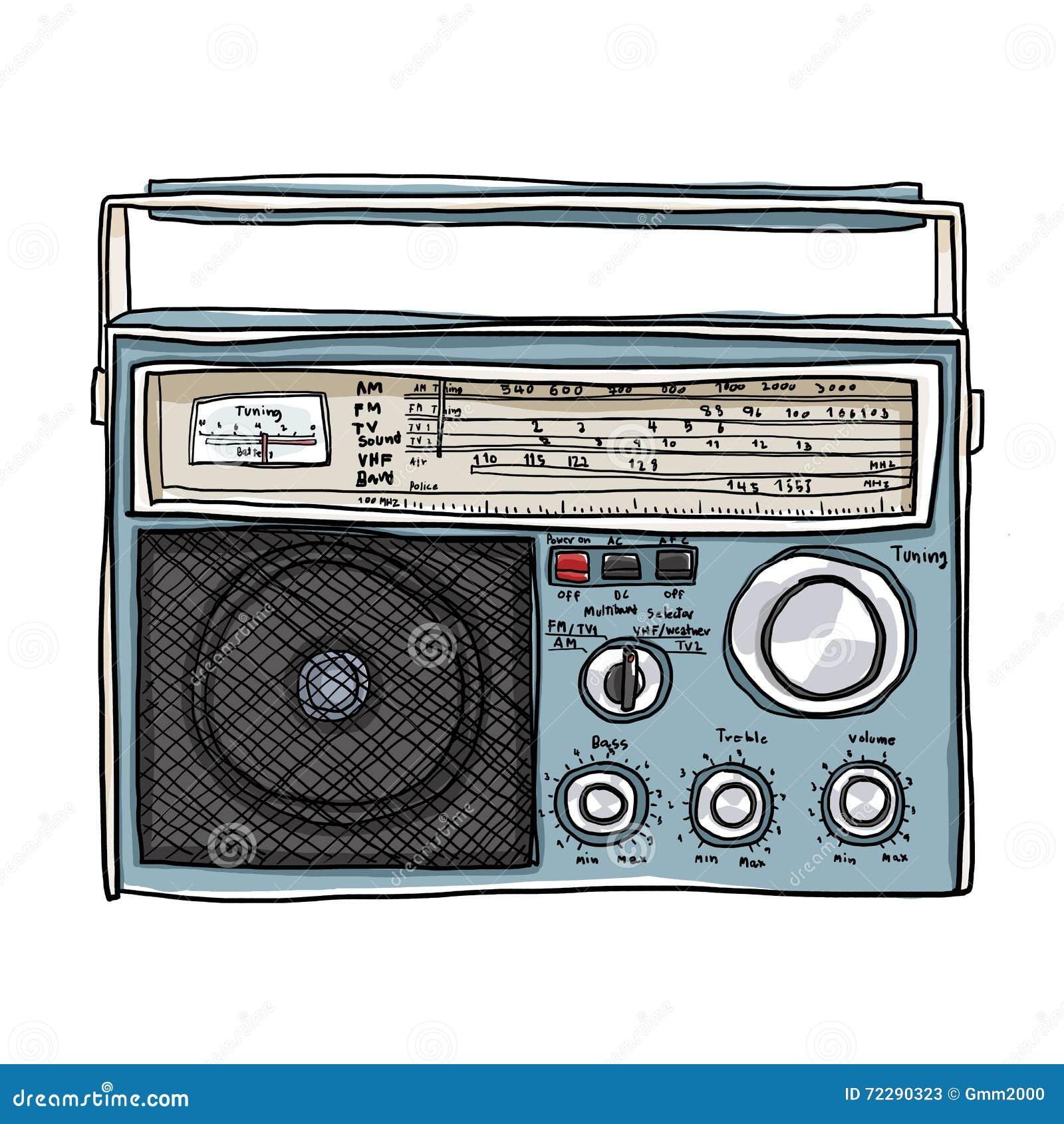 Download Иллюстрация искусства Boombox винтажного радио милая Иллюстрация штока - иллюстрации насчитывающей кощунства, партия: 72290323