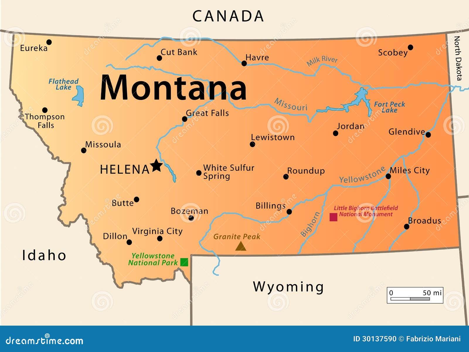 Karta Montany Illyustraciya Vektora Illyustracii Naschityvayushej