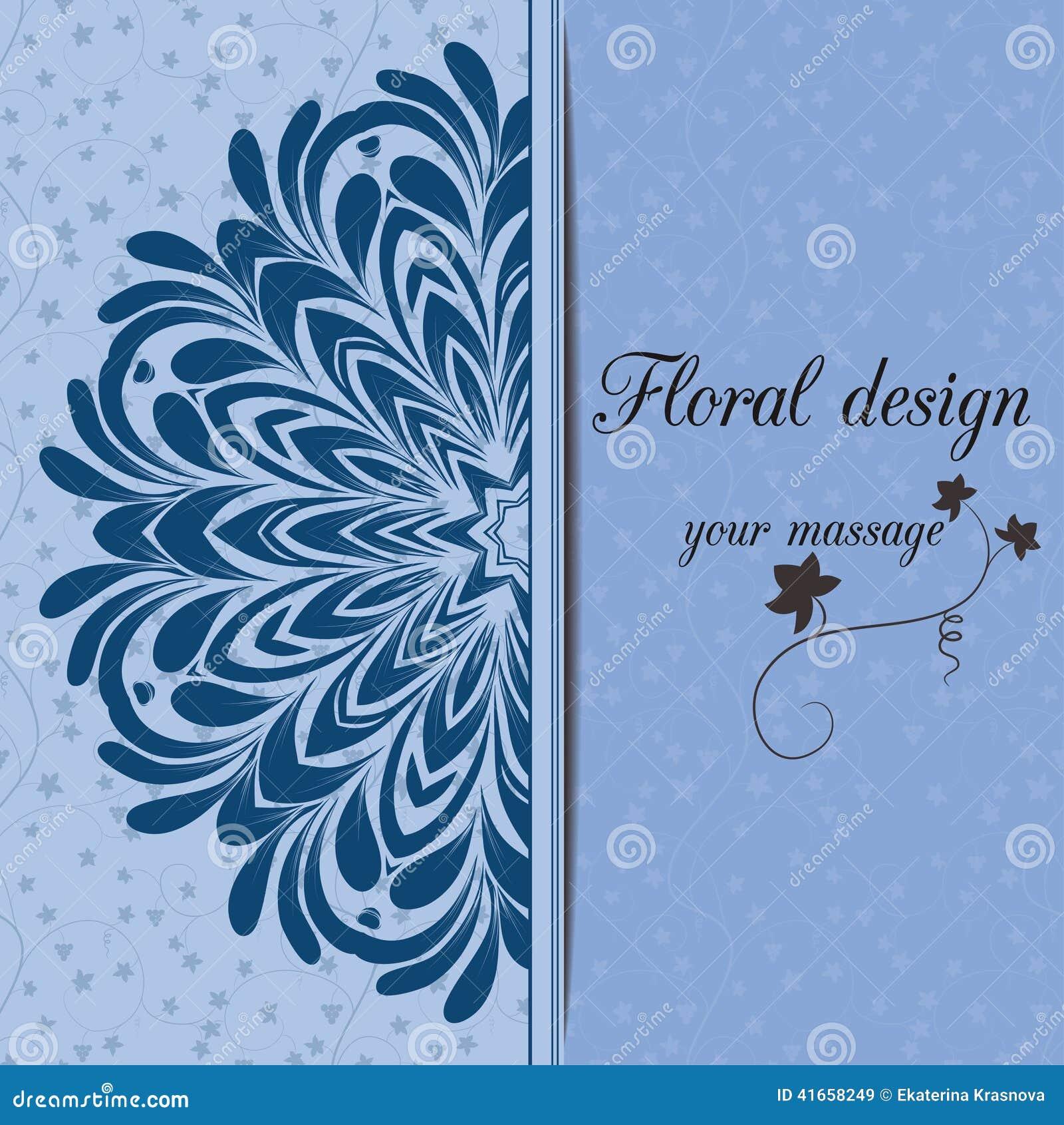 иллюстрация конструкции карточки флористическая ваша