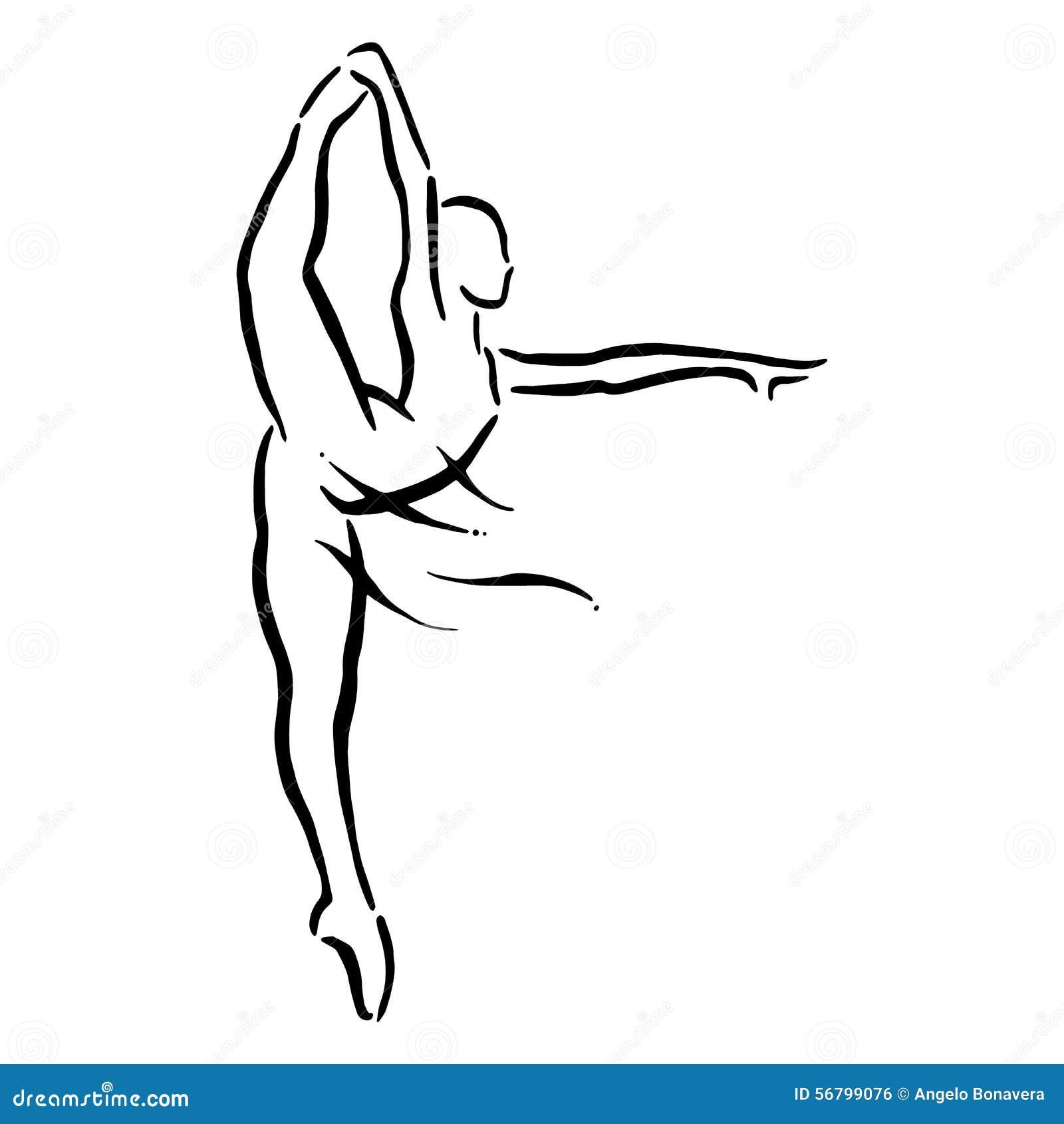иллюстрация конструкции танцора балета красивейшая