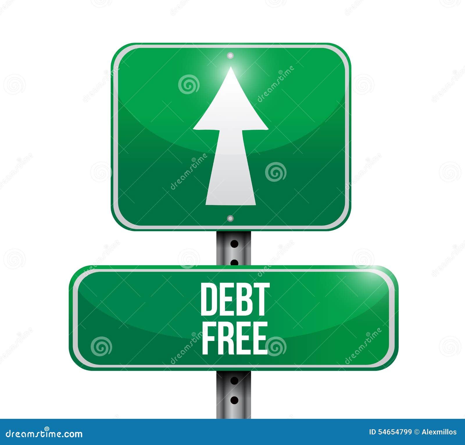 иллюстрация концепции дорожного знака задолженности свободная