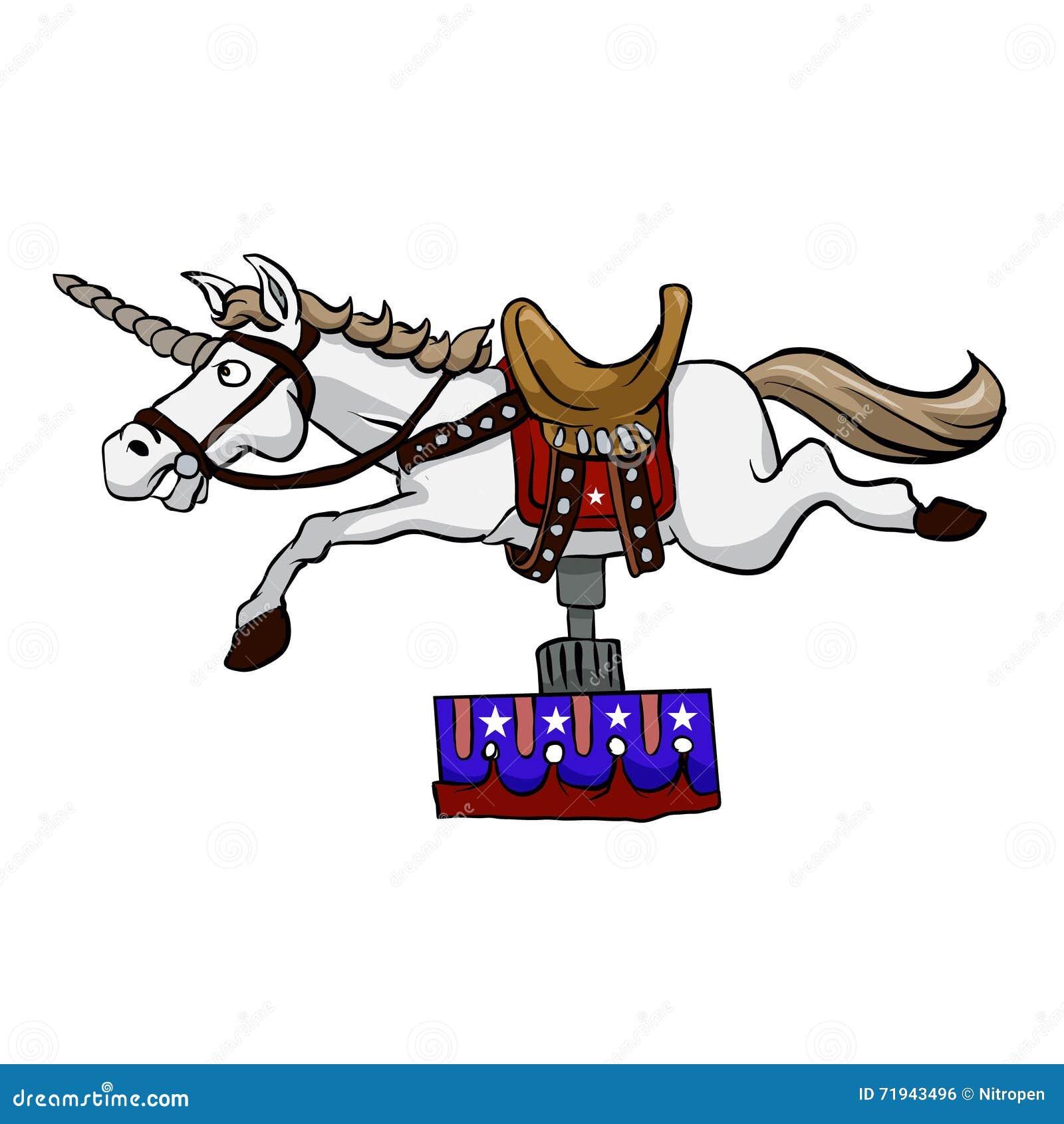Иллюстрация механически единорога лошадь механически