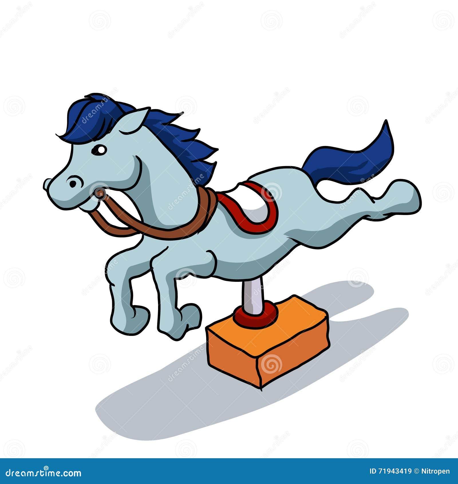 Иллюстрация механически лошади