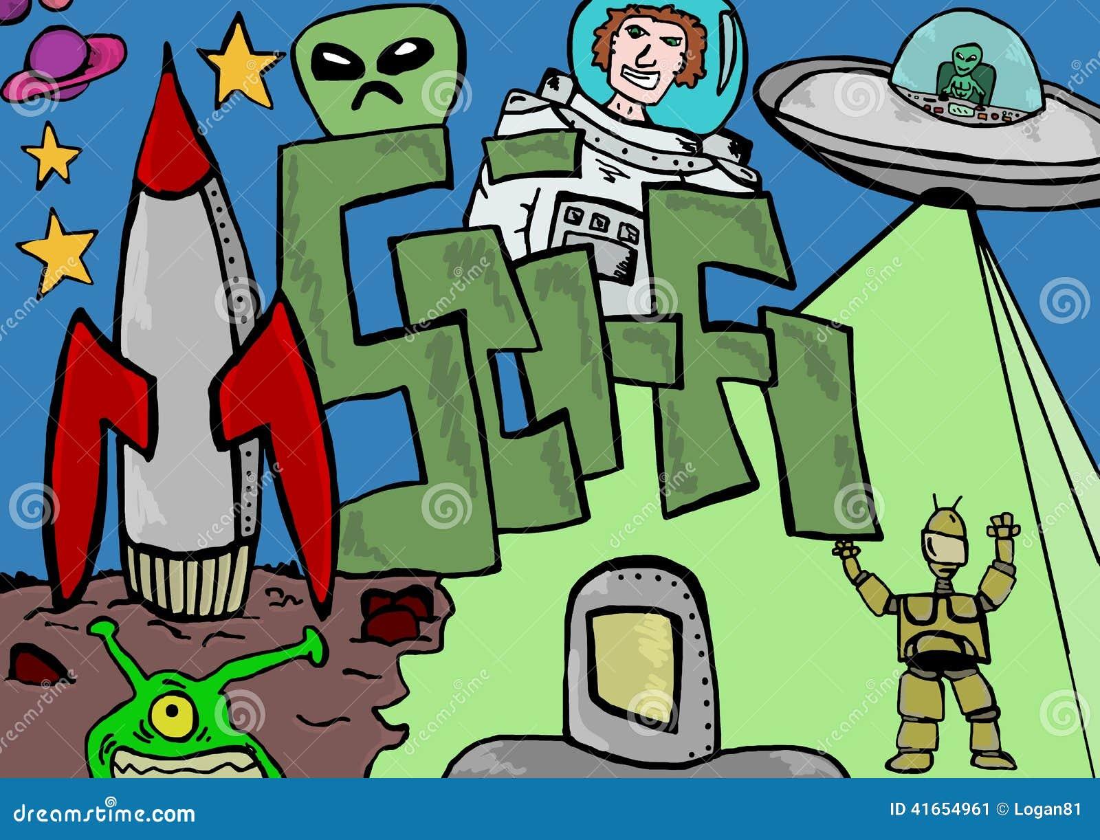 Иллюстрация научной фантастики