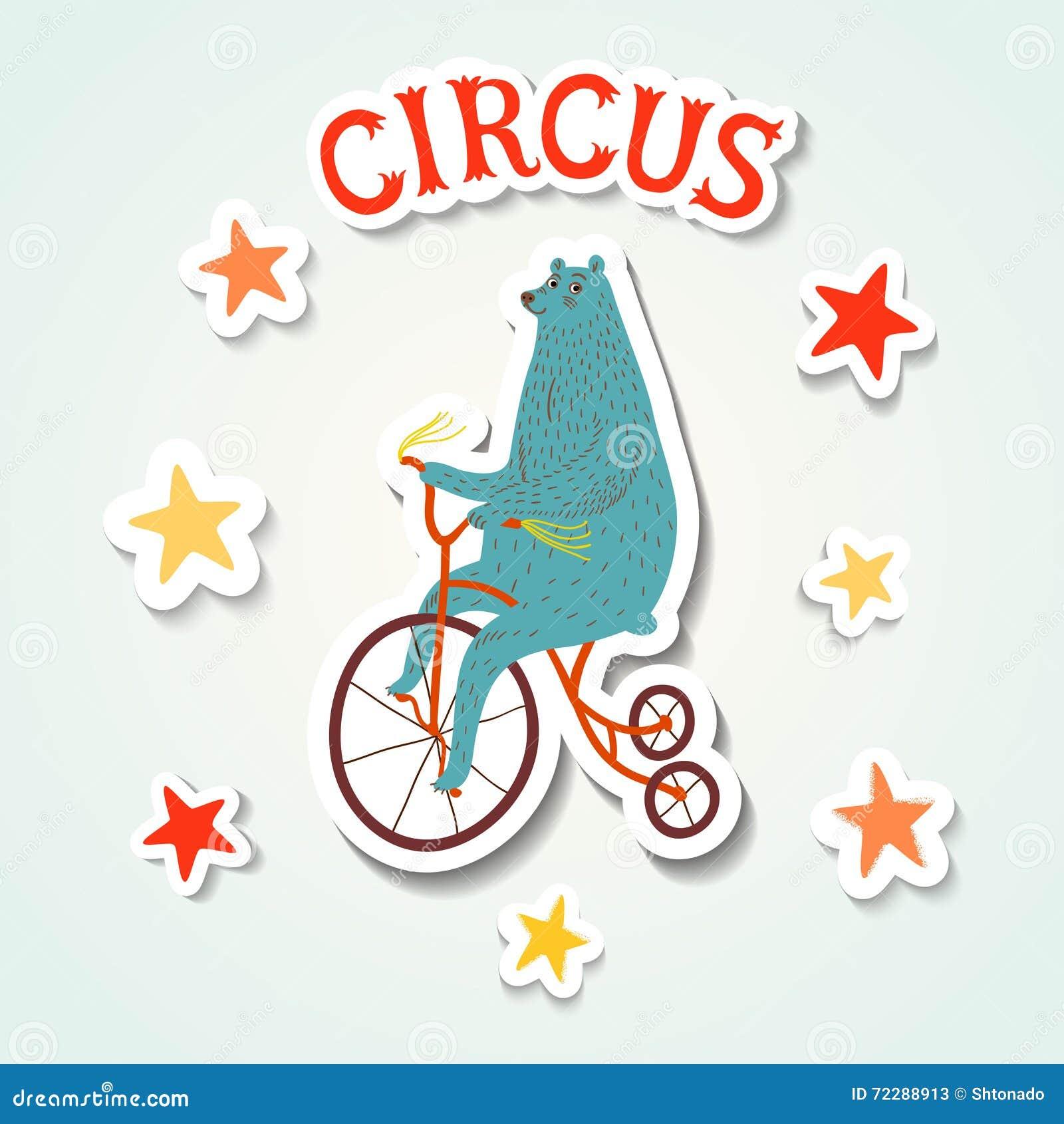 Download Иллюстрация стиля стикера представления цирка с медведем Иллюстрация штока - иллюстрации насчитывающей старо, смешно: 72288913