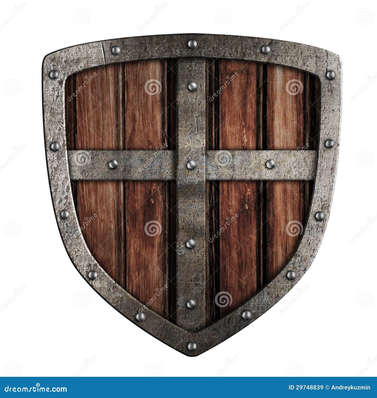 Изолированная иллюстрация экрана старого крестоносца деревянная