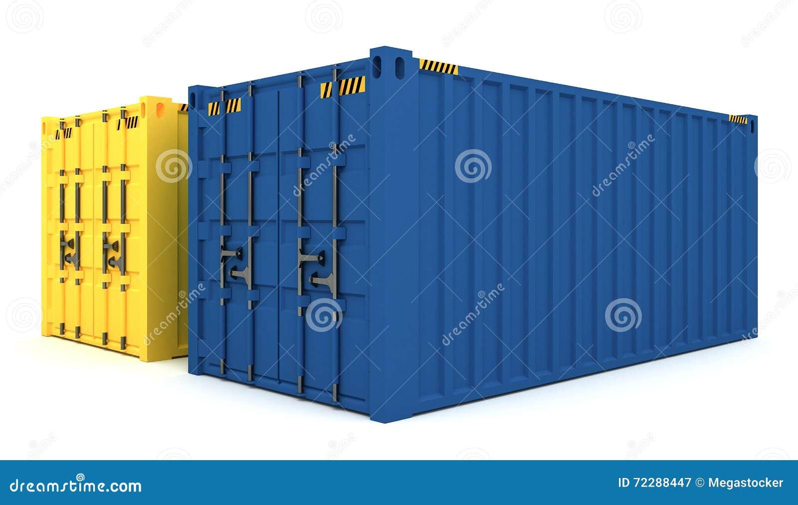 Download иллюстрация 3D грузовых контейнеров изолированных на белизне Иллюстрация штока - иллюстрации насчитывающей металл, над: 72288447